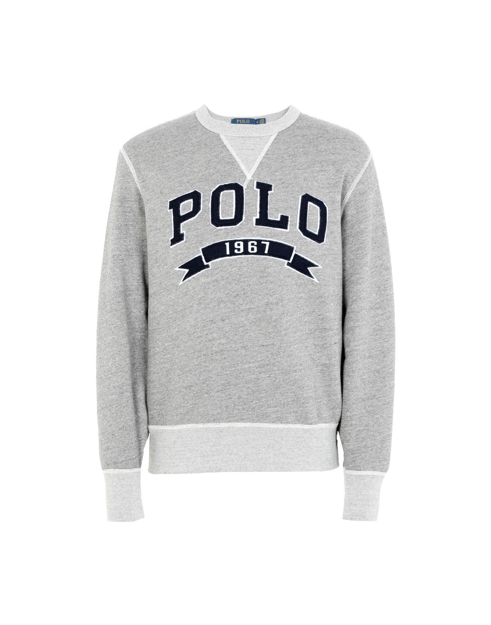 c9e51f89a5e4 Polo Ralph Lauren Cotton-blend-fleece Sweatshirt in Gray for Men ...