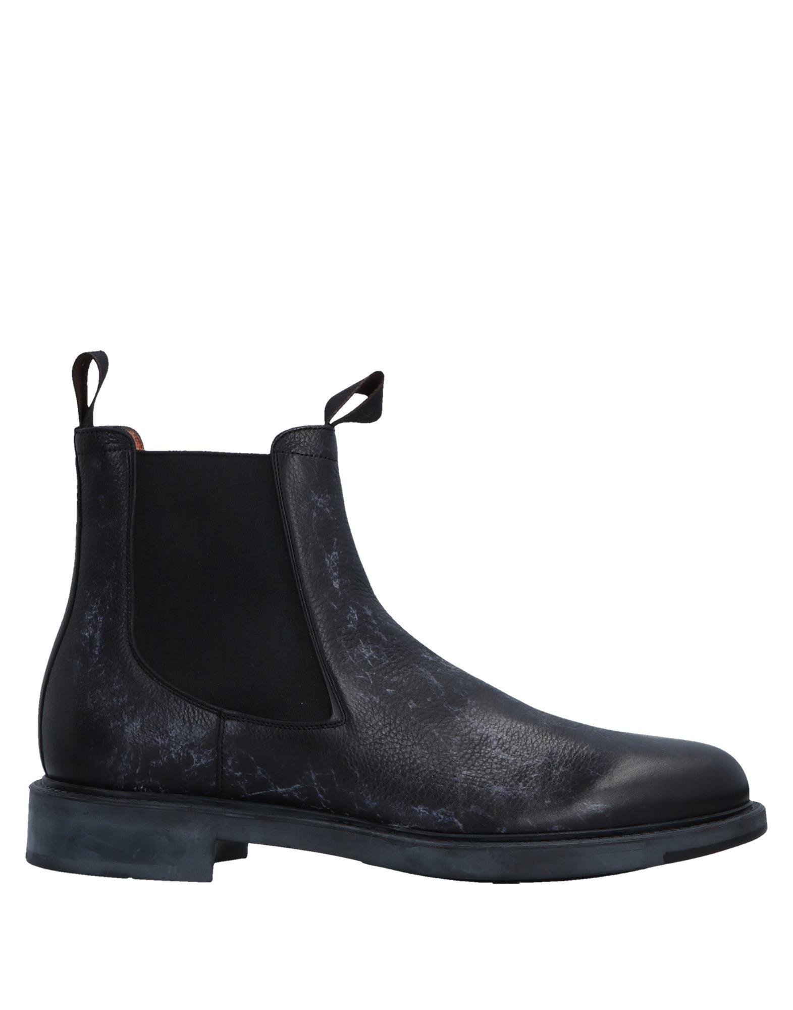 7bc9e7f9150 Santoni Ankle Boots in Black for Men - Lyst