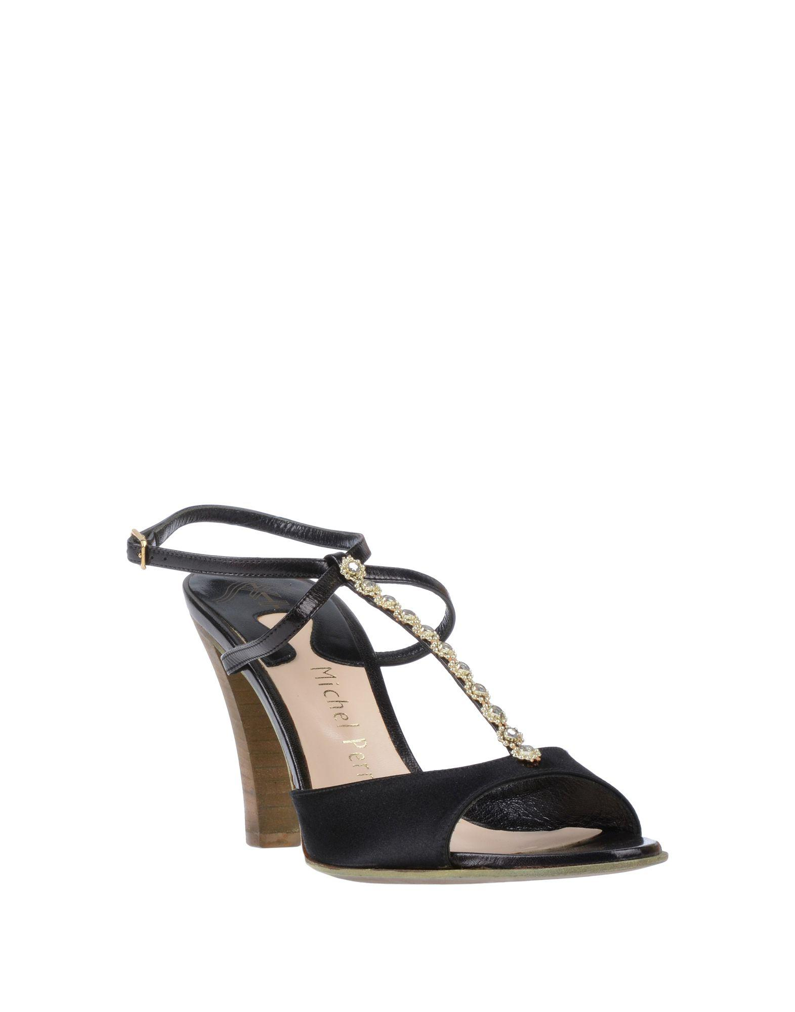 f50ce11b2a3f Lyst - Michel Perry Sandals in Black