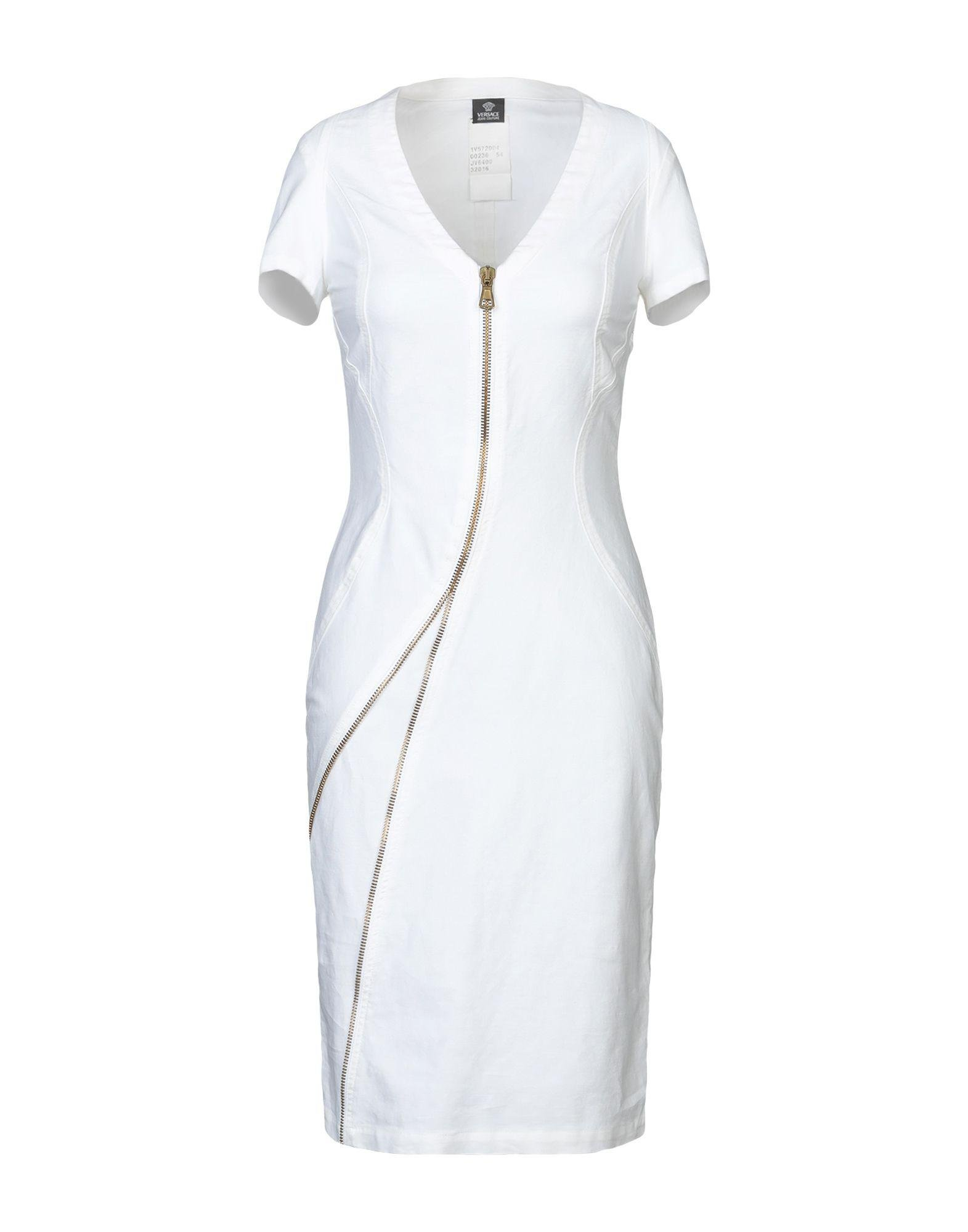 b622cbfeb7e Lyst - Versace Jeans Knee-length Dress in White