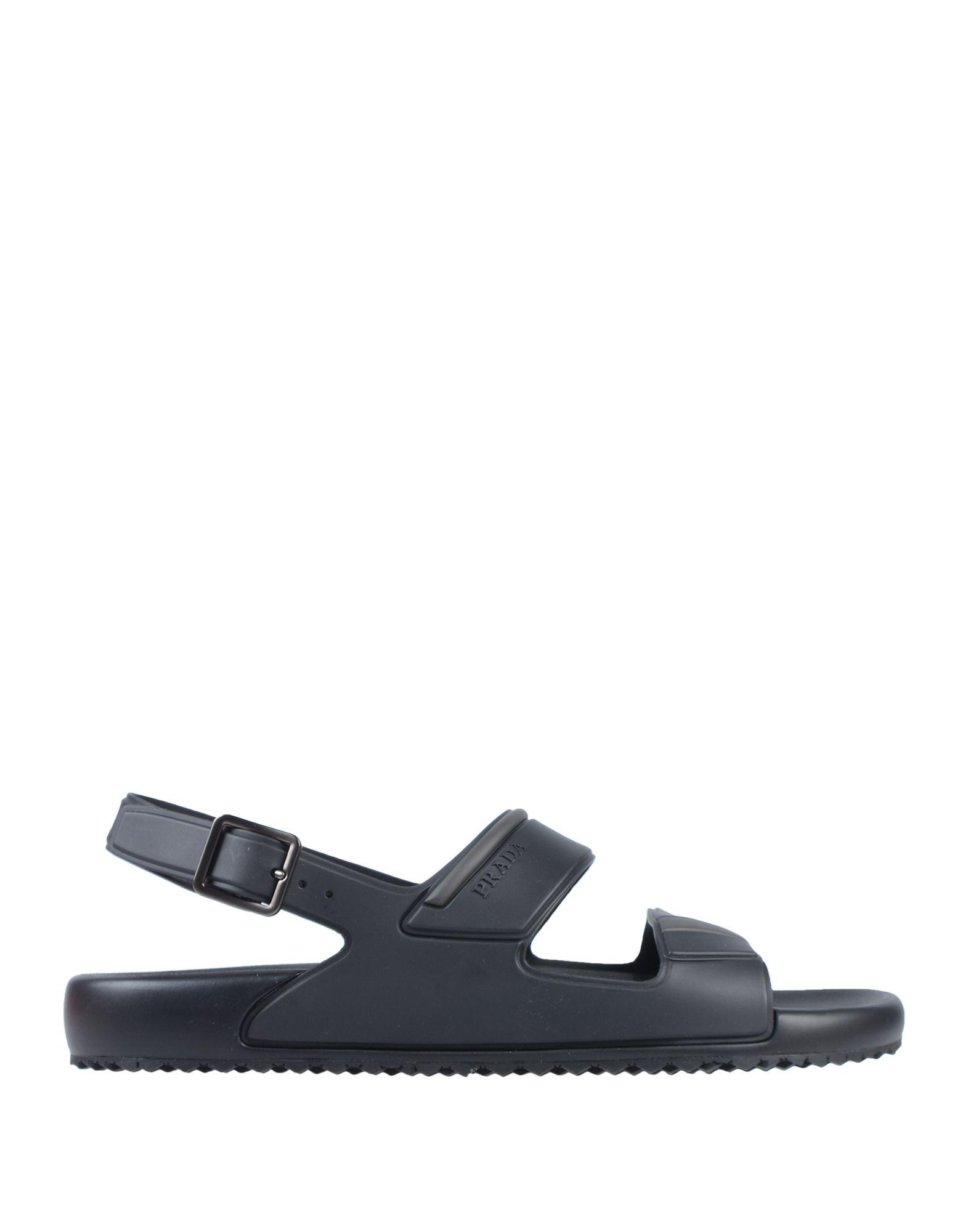 Lyst - Sandales Prada pour homme en coloris Noir ... 3dc8c16604f