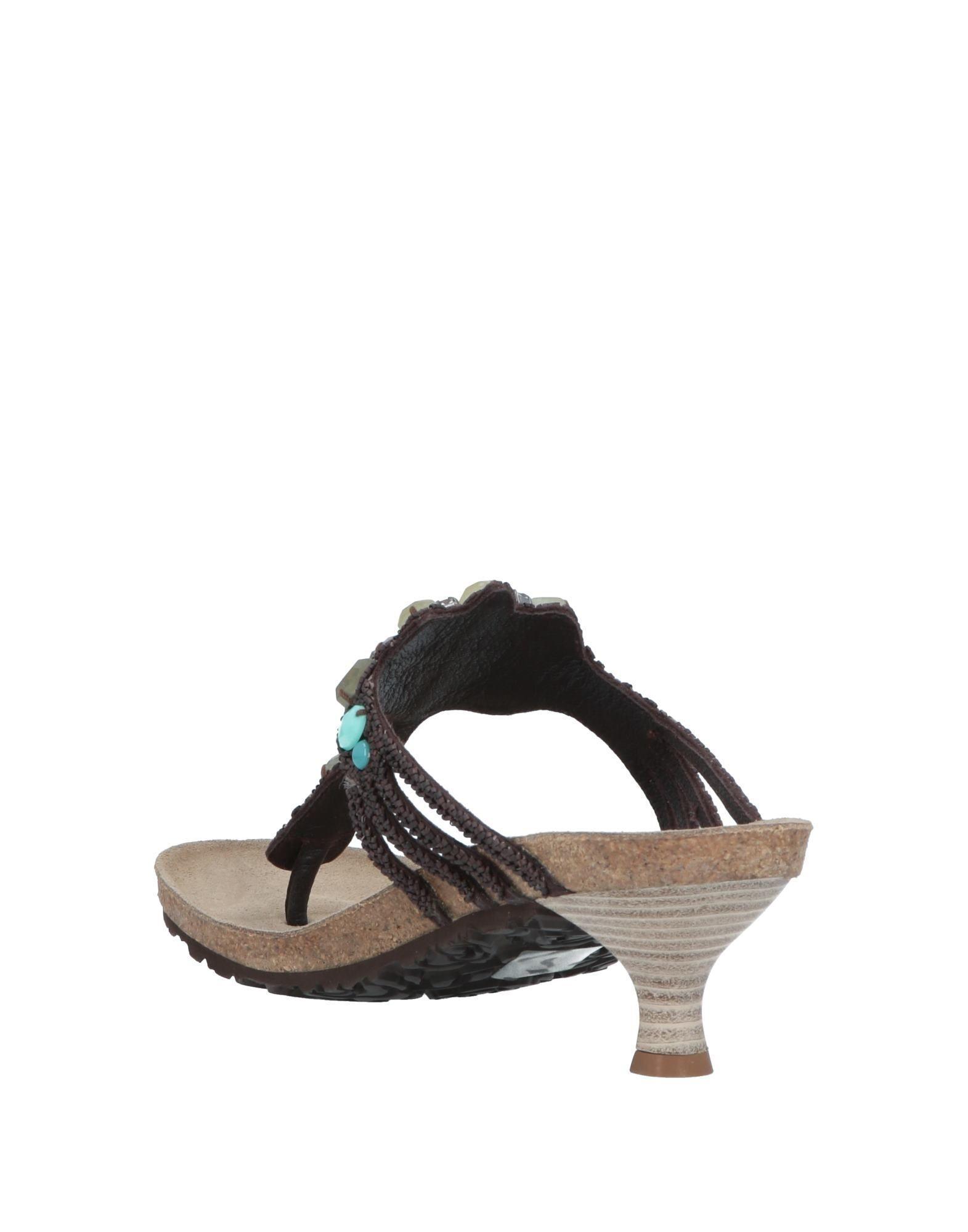 3d8a03ea62fb Lyst - Maliparmi Toe Post Sandal in Brown