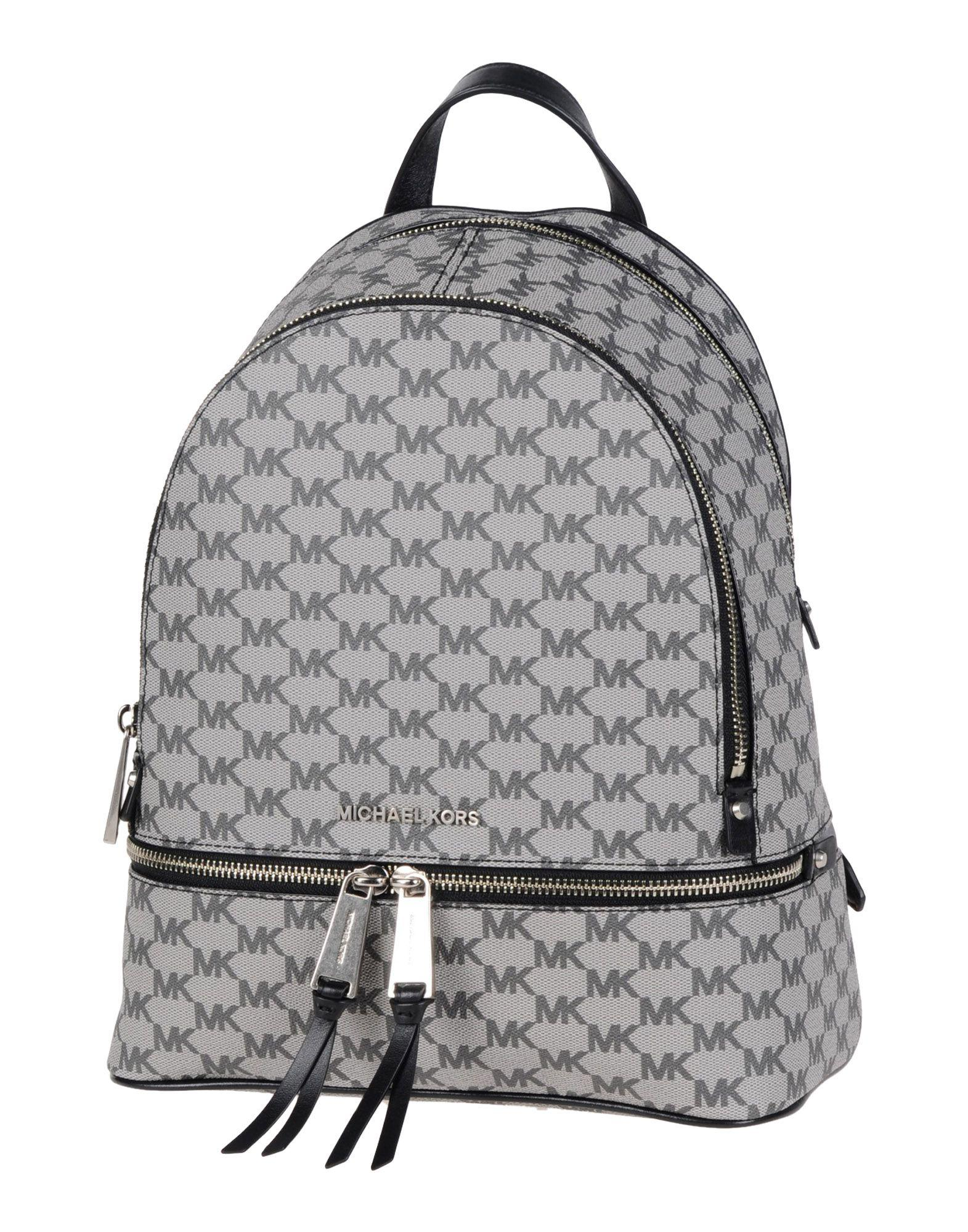 80d996f53d32 ... best lyst michael michael kors rhea backpack in gray d9751 43117