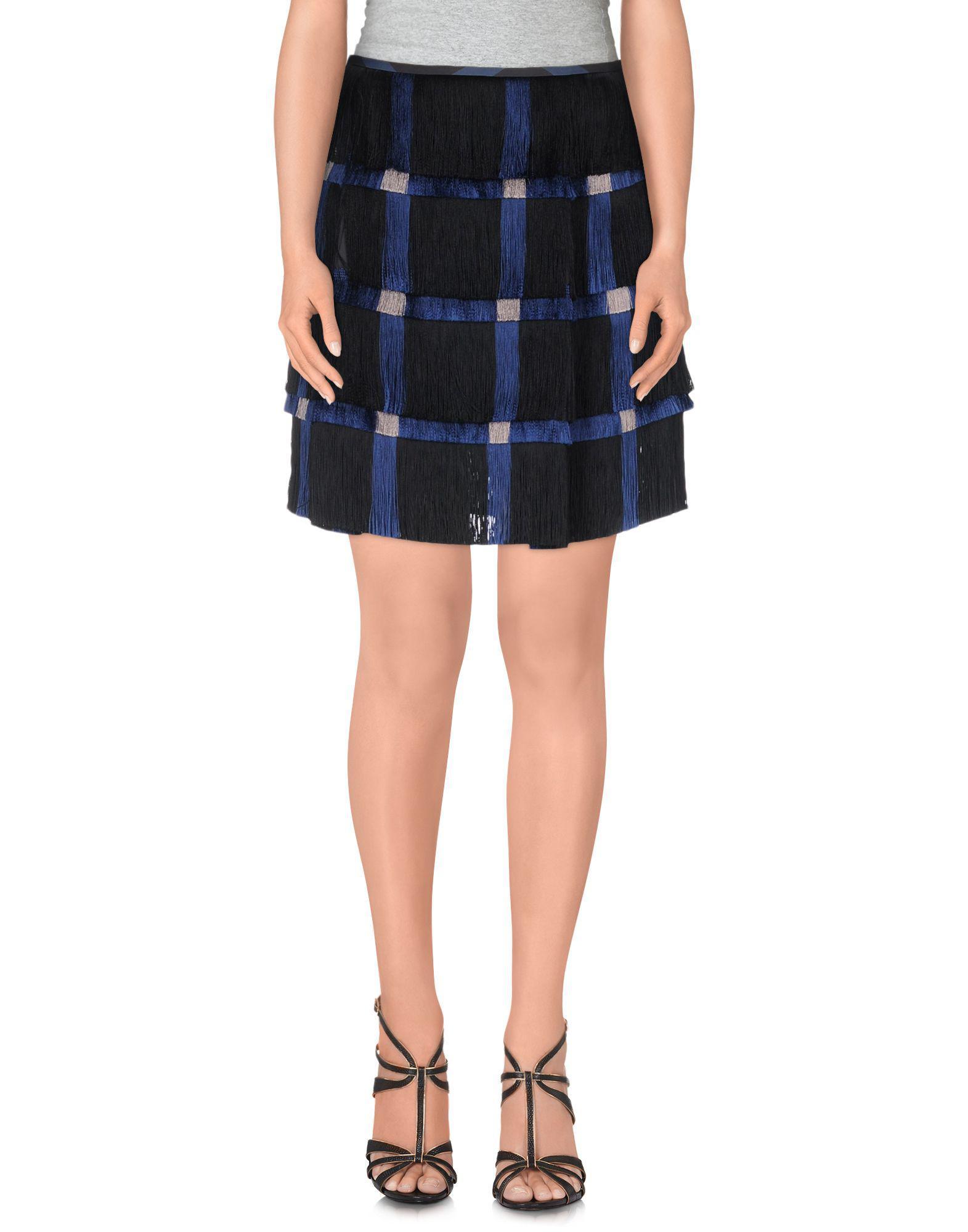 Lyst - Marco De Vincenzo Mini Skirt in Blue