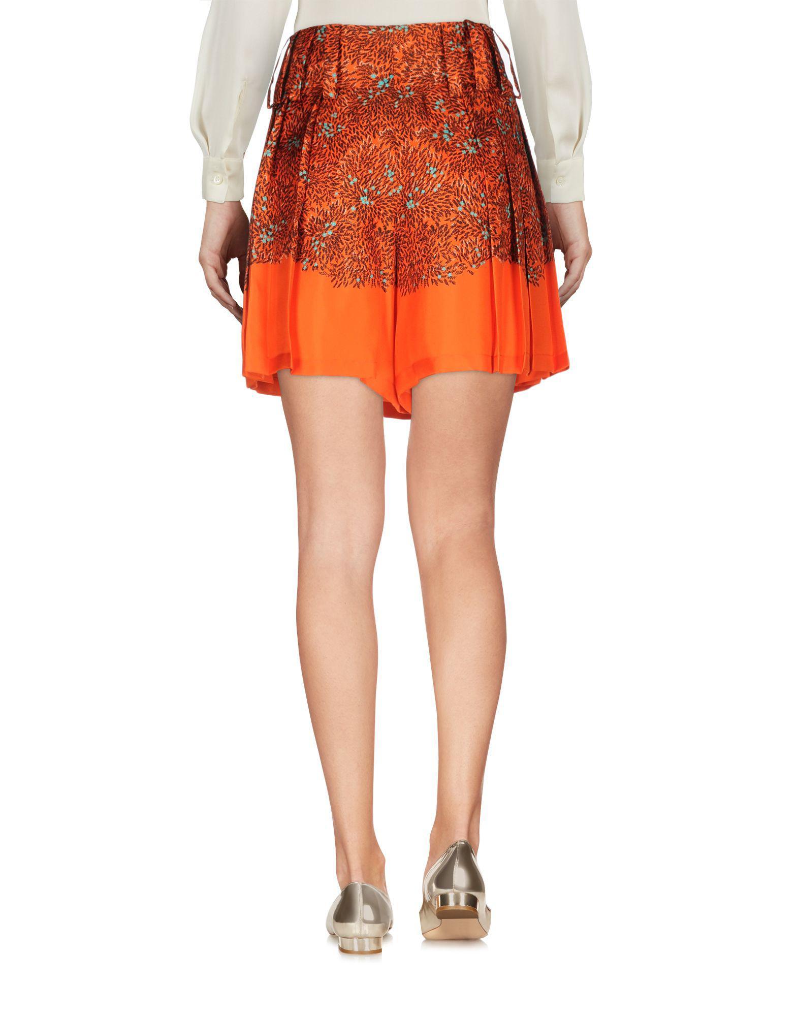 397667b007 Lyst - Marco De Vincenzo Mini Skirt in Orange