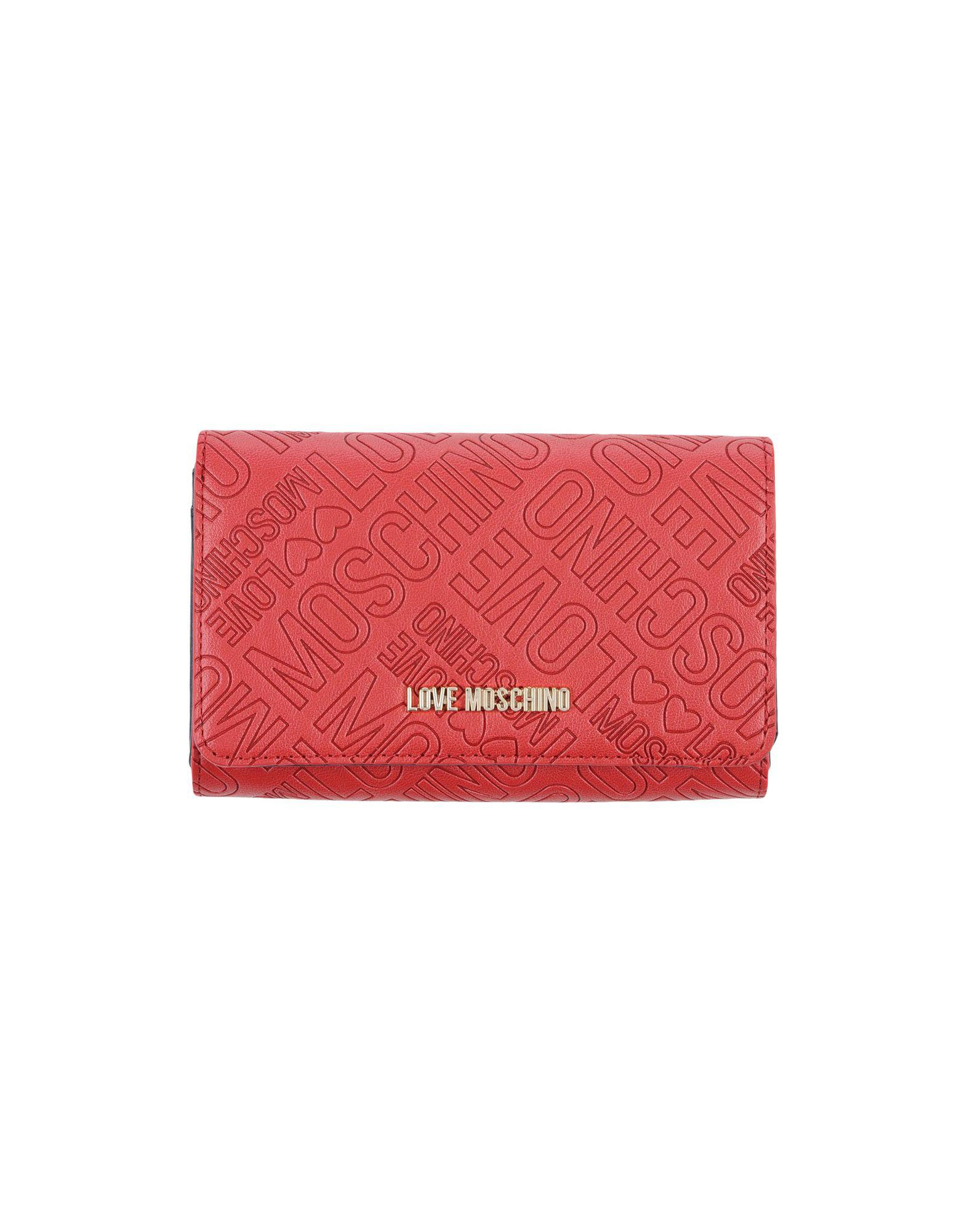 d019c27e45b Lyst - Love Moschino Wallet in Red