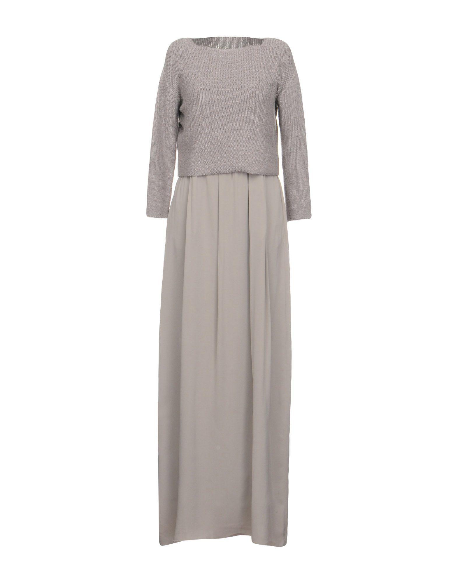 Gray Dress Lyst Filippi In Long Fabiana BwS7qpSxHF
