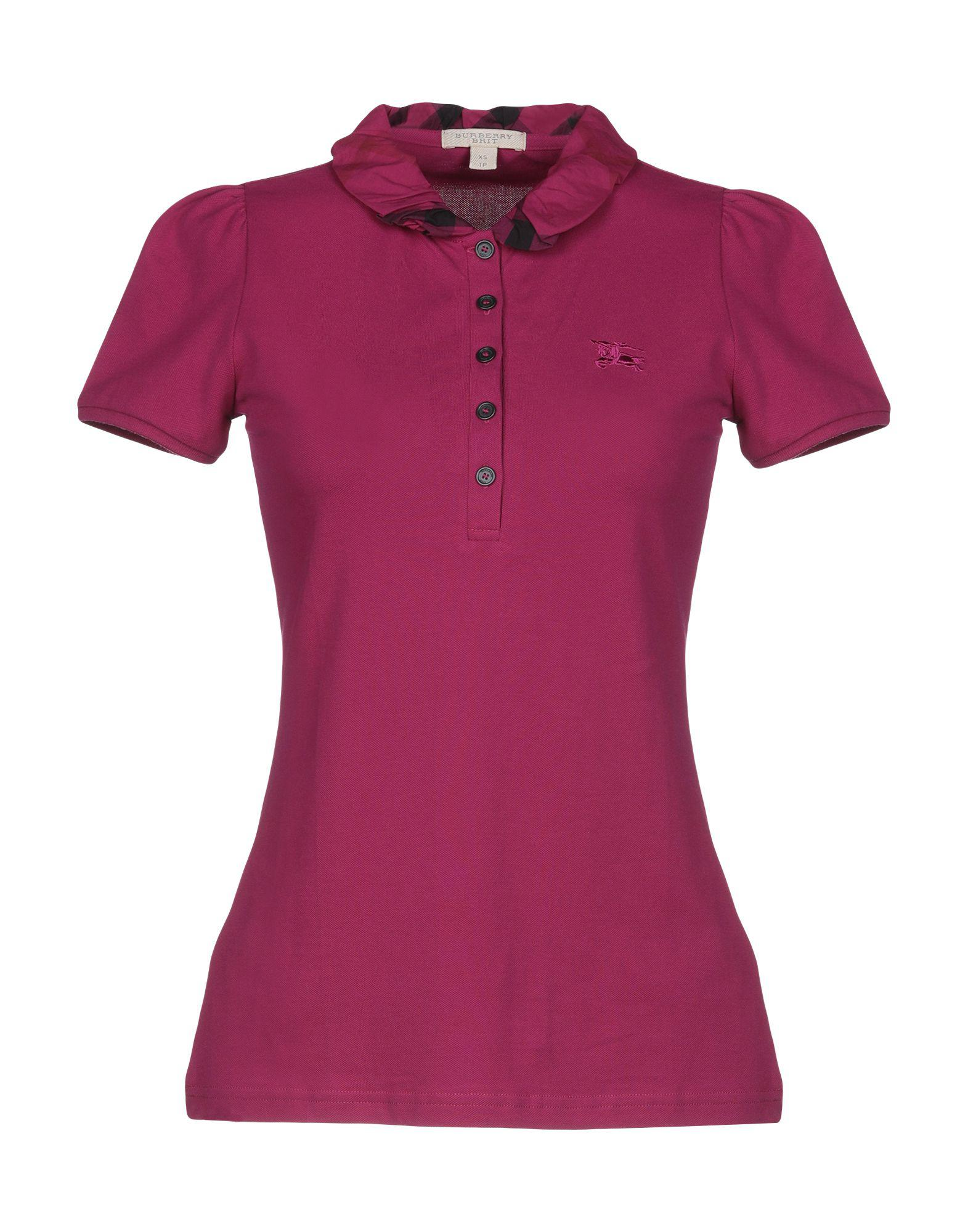 06e80f43bf7 Burberry - Purple Polo Shirts - Lyst. View fullscreen