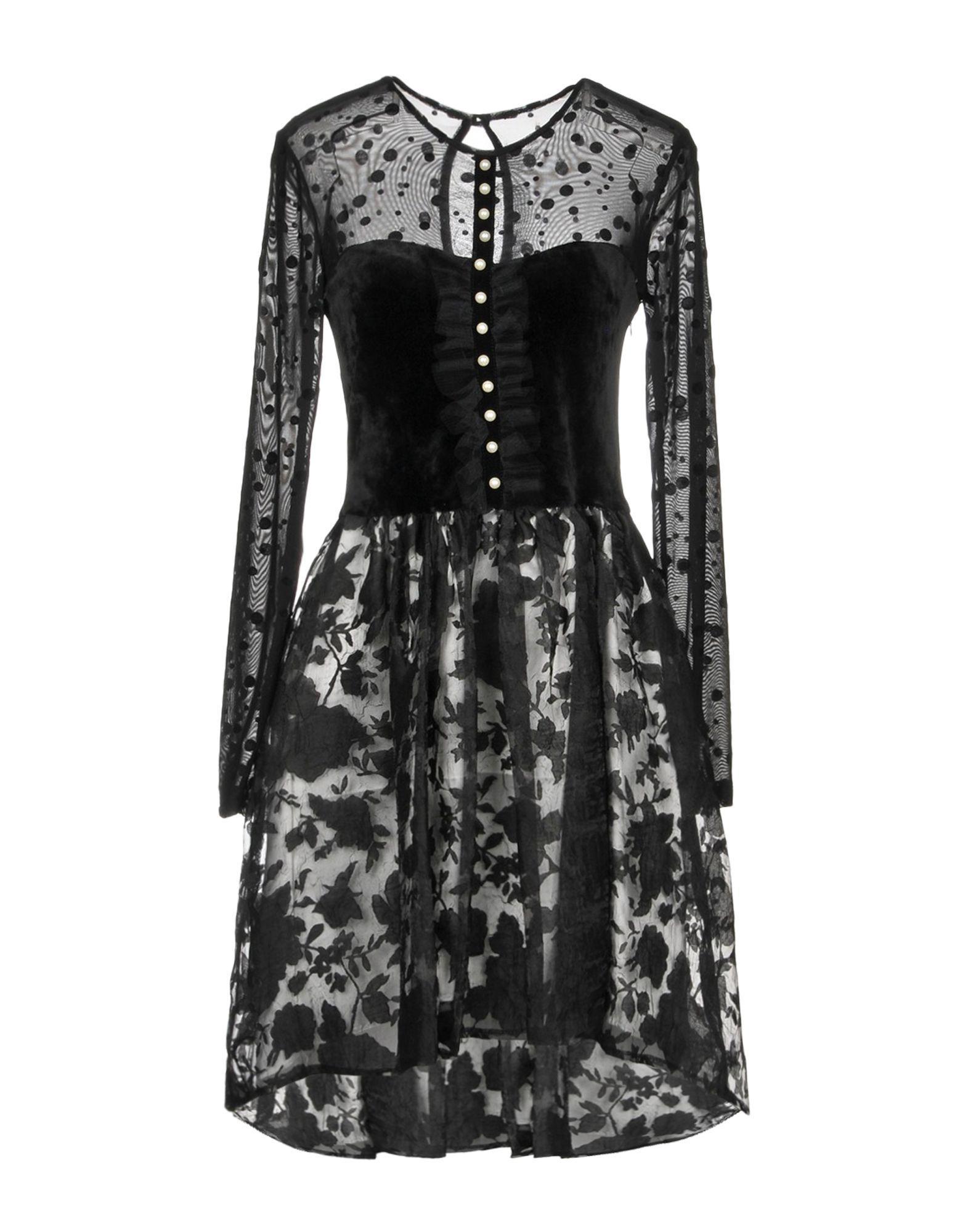 Lyst - Robe courte Rinascimento en coloris Noir 94bf49fc7387