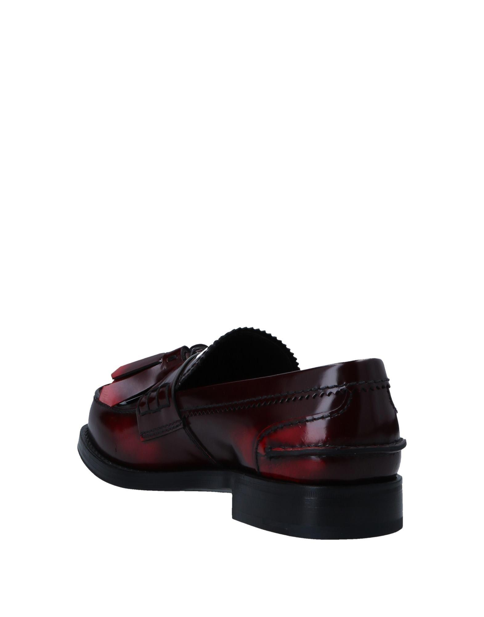 3dc846dbdc0 ... leather 209c1 e2a9b  cheap lyst prada loafer in red for men d4ffd b3a70