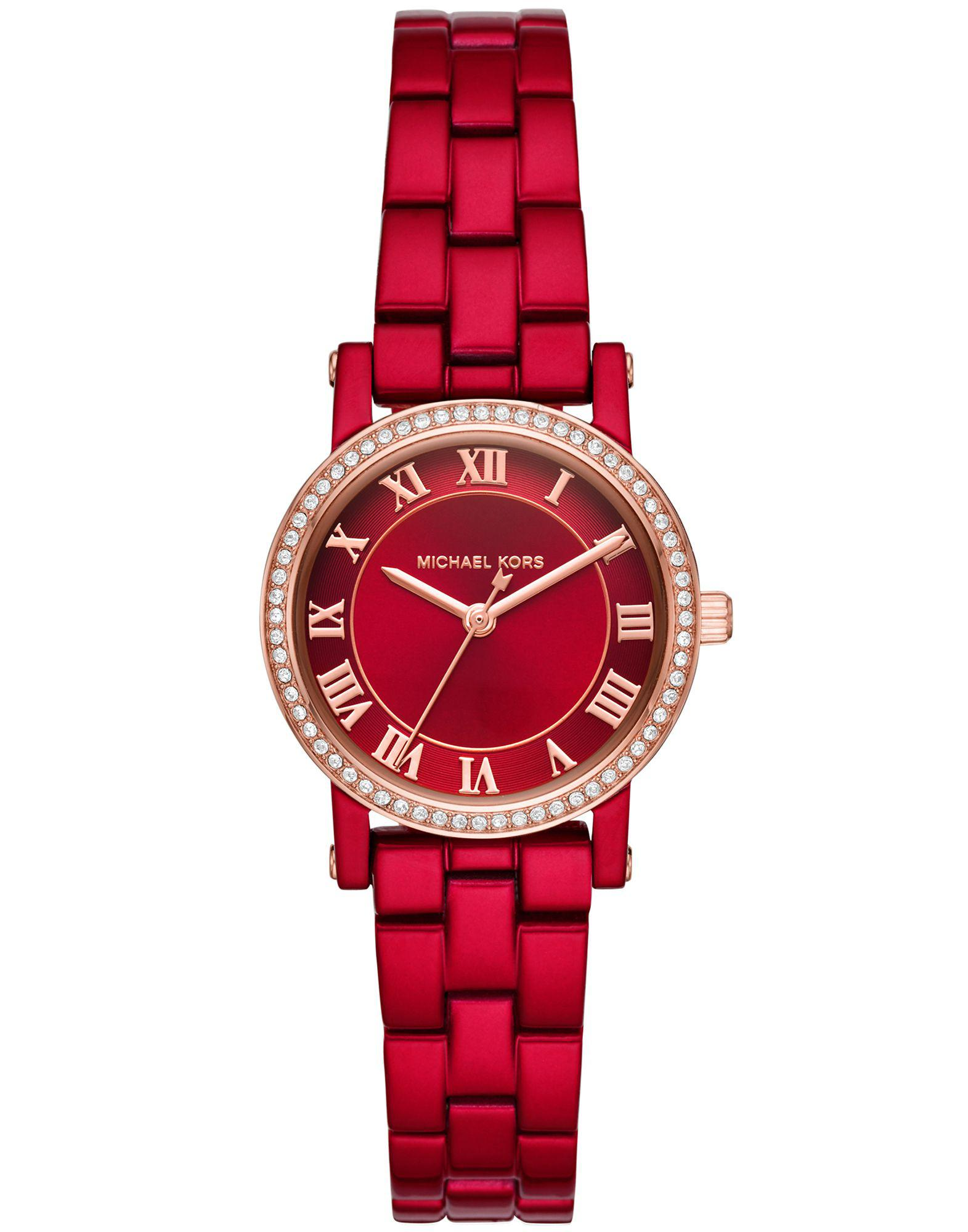 Rojo Color Michael Reloj Lyst Kors De Pulsera dBCxroe