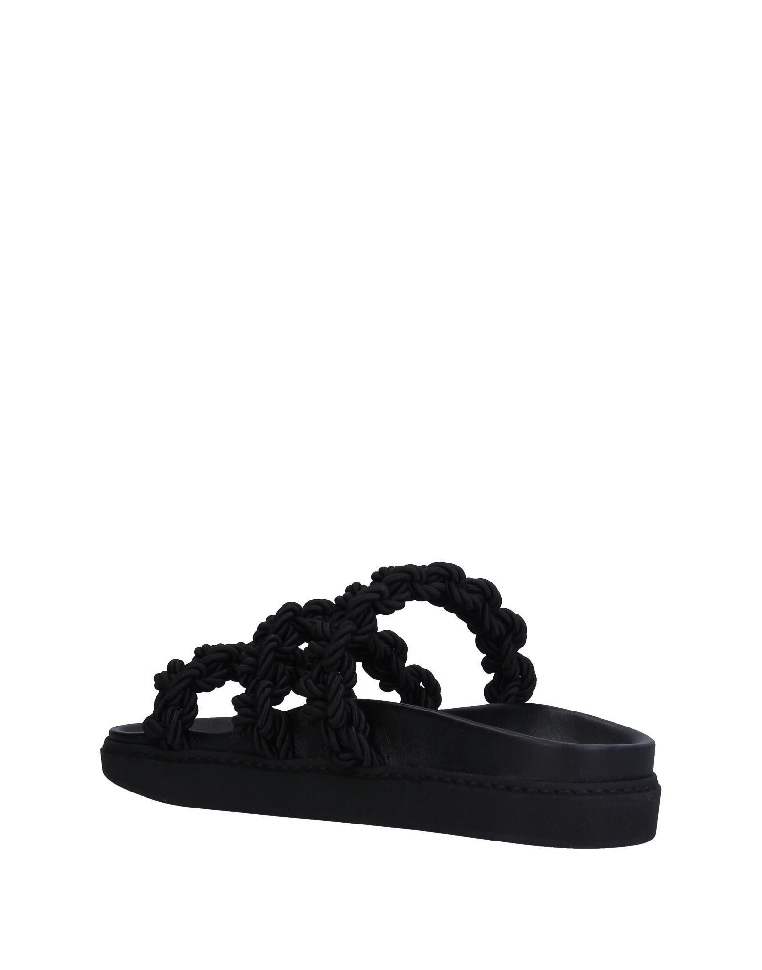 0d5b85214967f ... Lyst - Simone Rocha Sandals in Black best deals on 8115e c9a72  Lyst - Dolce  Gabbana Pvc Striped Criss Cross ...