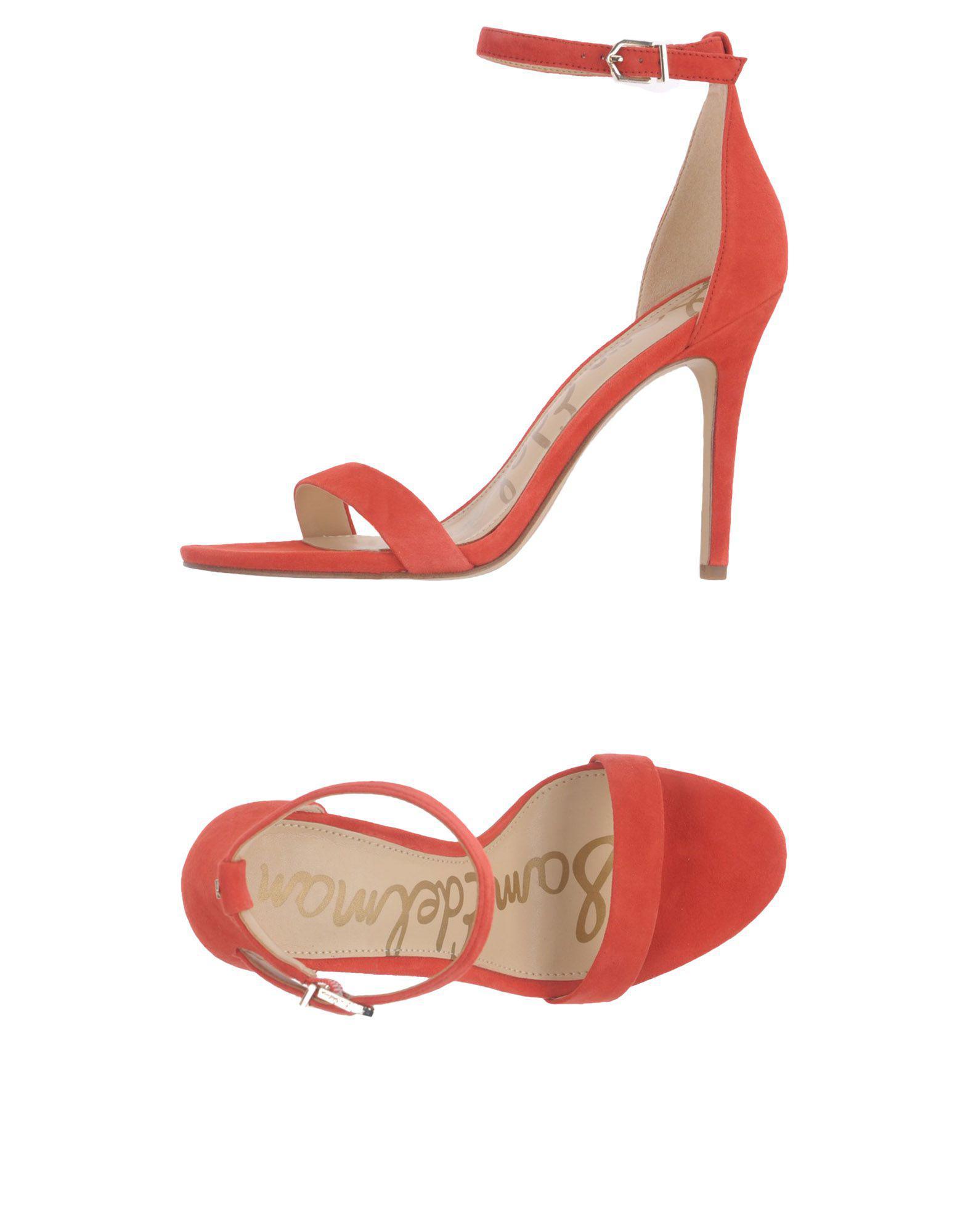 be37b58a6e56f2 Lyst - Sam Edelman Eleanor Suede Platform Stiletto Sandals in Red