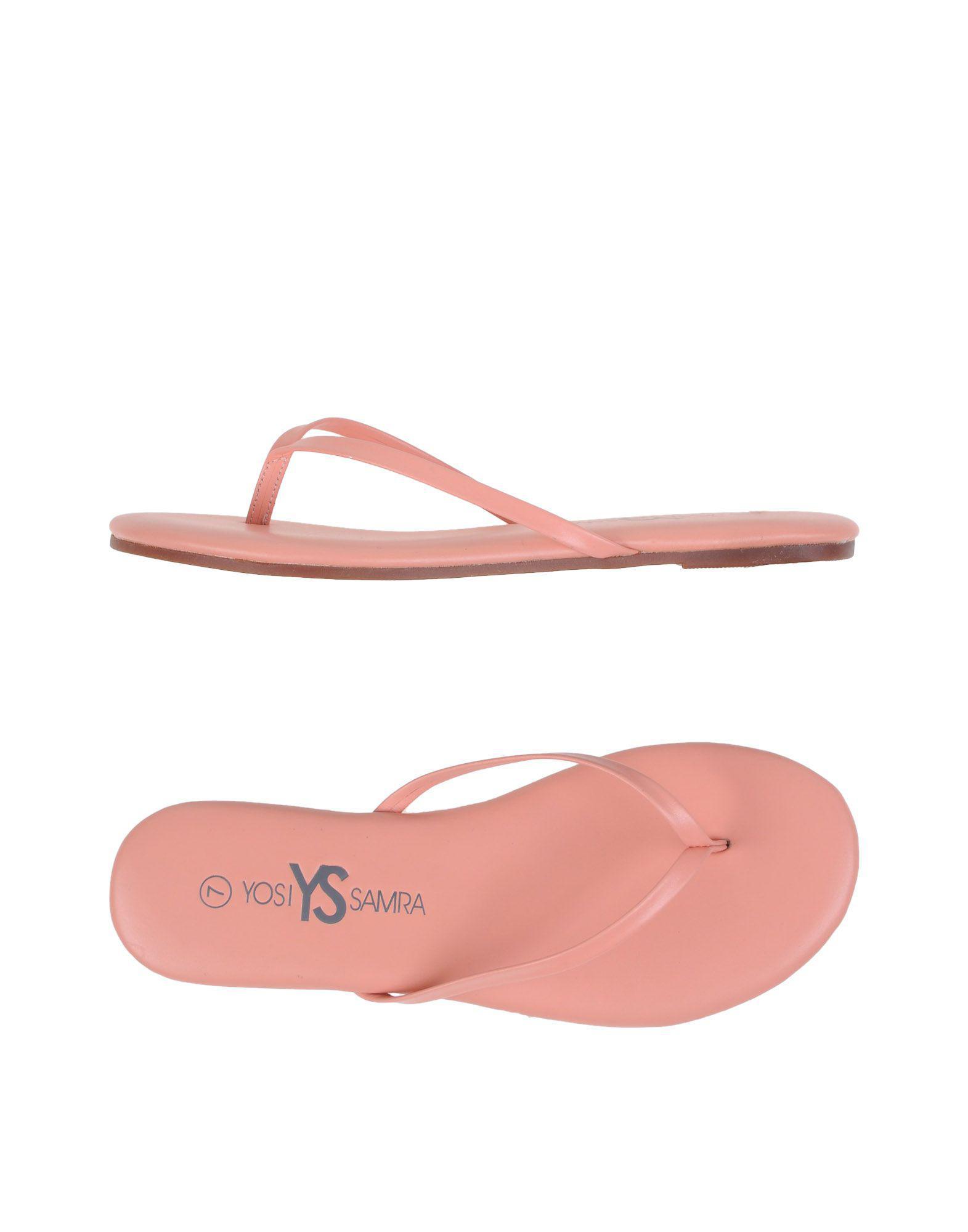 bd5bb37669dca Yosi Samra Toe Post Sandal in Pink - Lyst