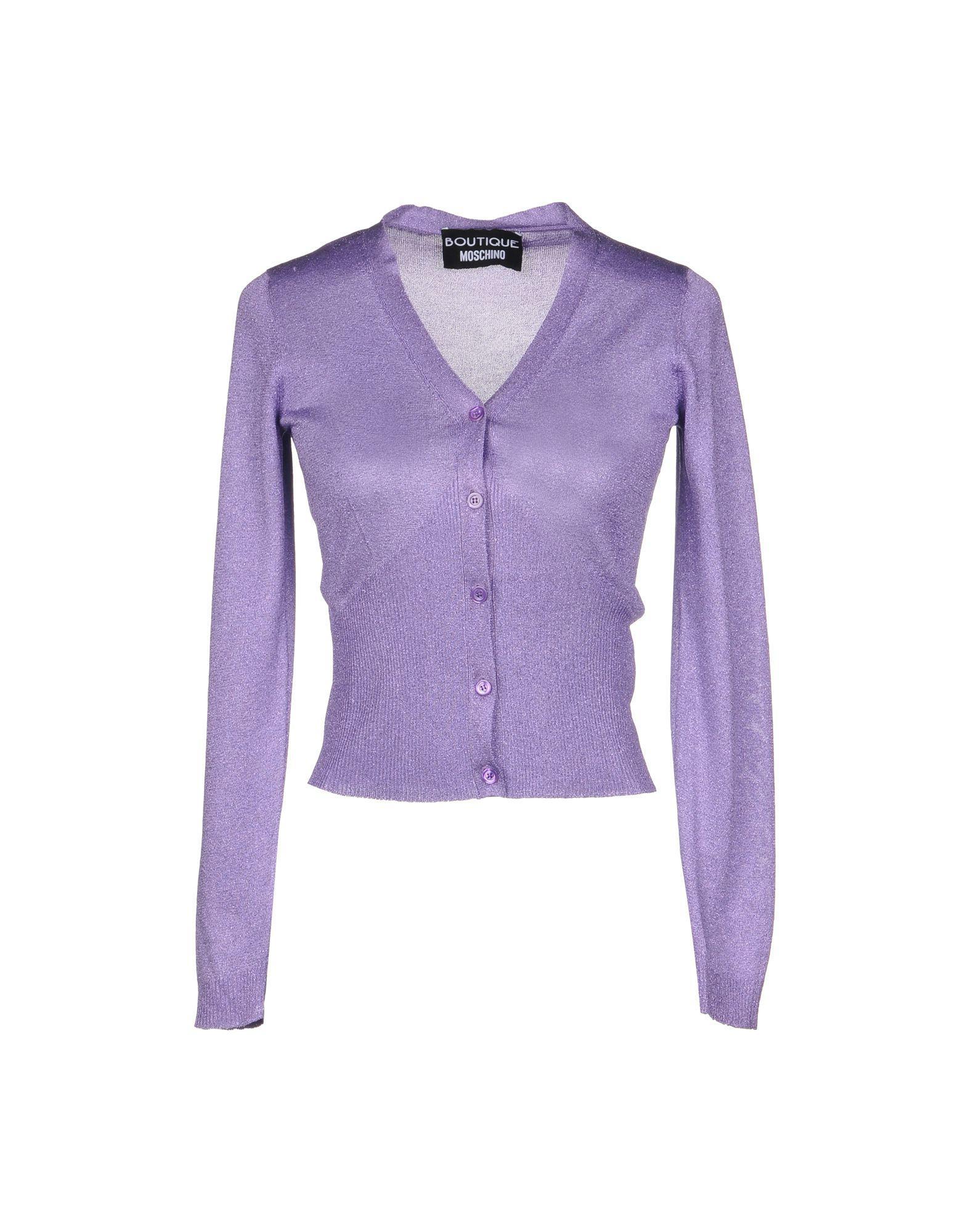 af2a1f16df1 Lyst - Boutique Moschino Cardigan in Purple