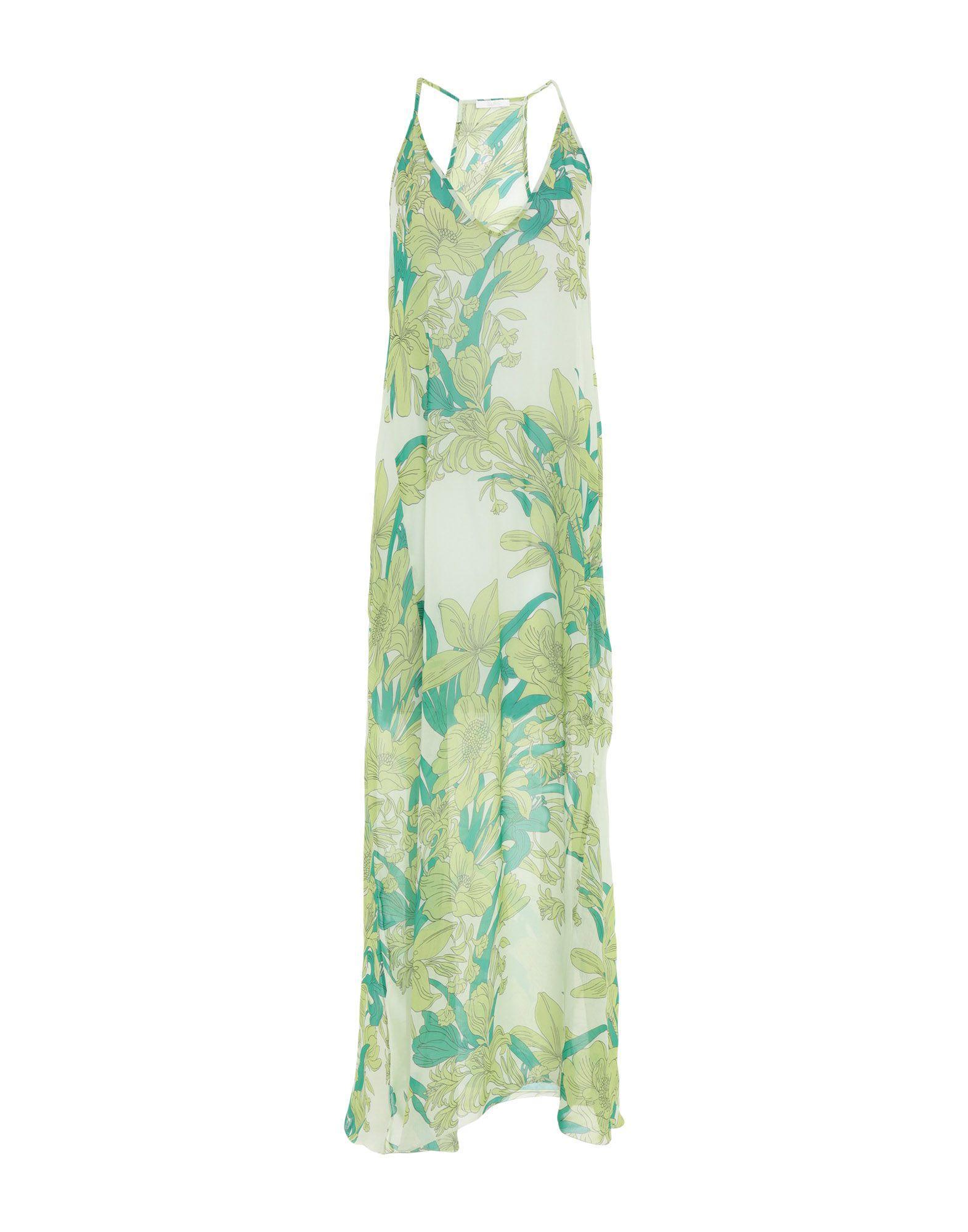 fe3963df1823 Lyst - Vestido largo Carla G de color Verde