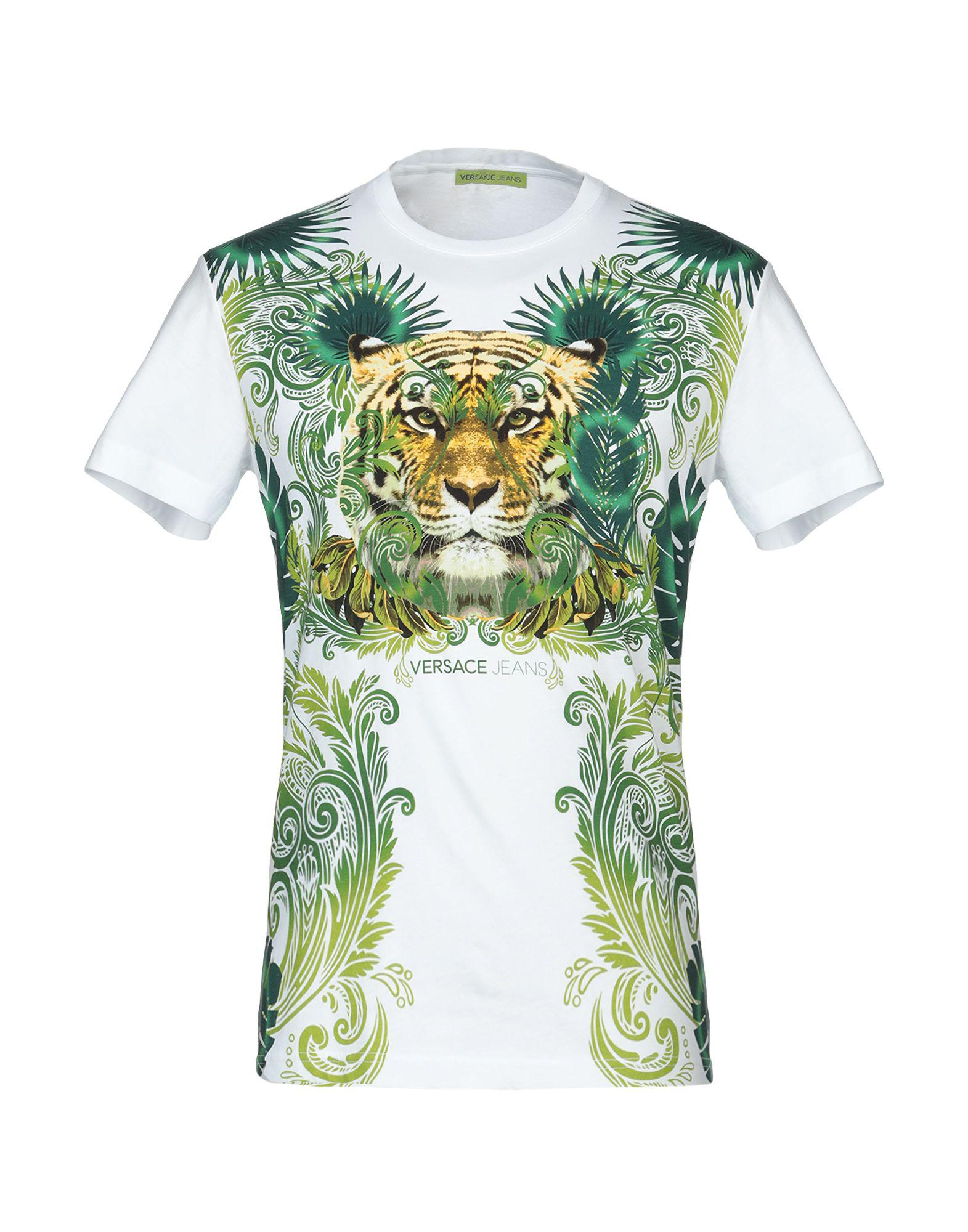 8a911ab5 Versace Jeans - White T-shirt for Men - Lyst. View fullscreen