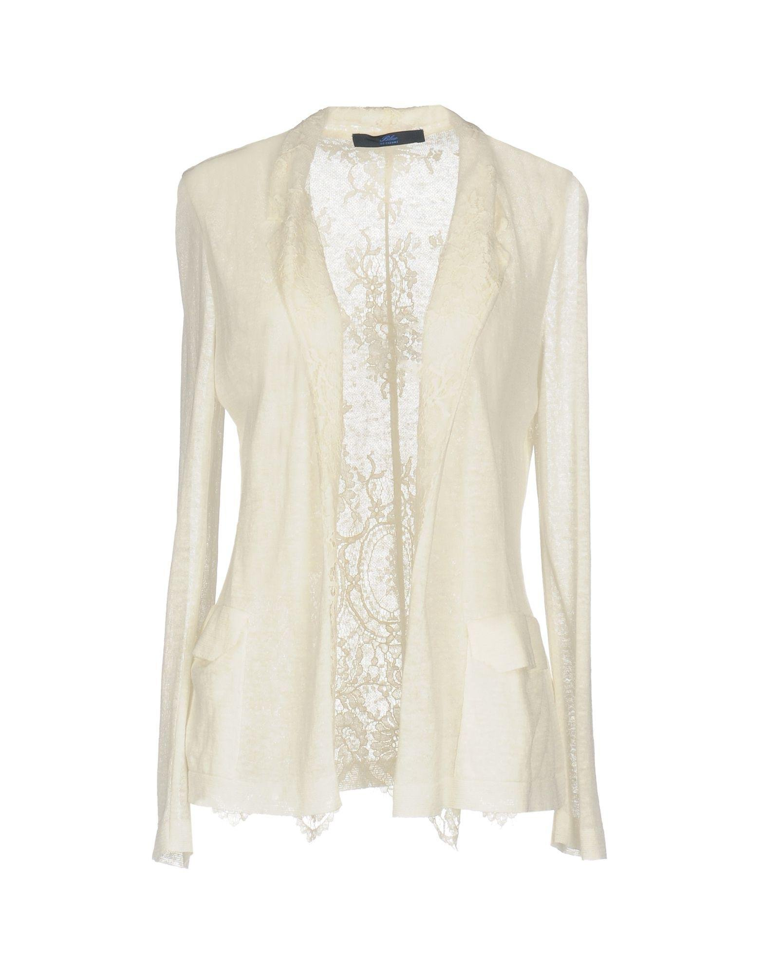 b248fdfe20c50 Lyst - Les Copains Cardigan in White