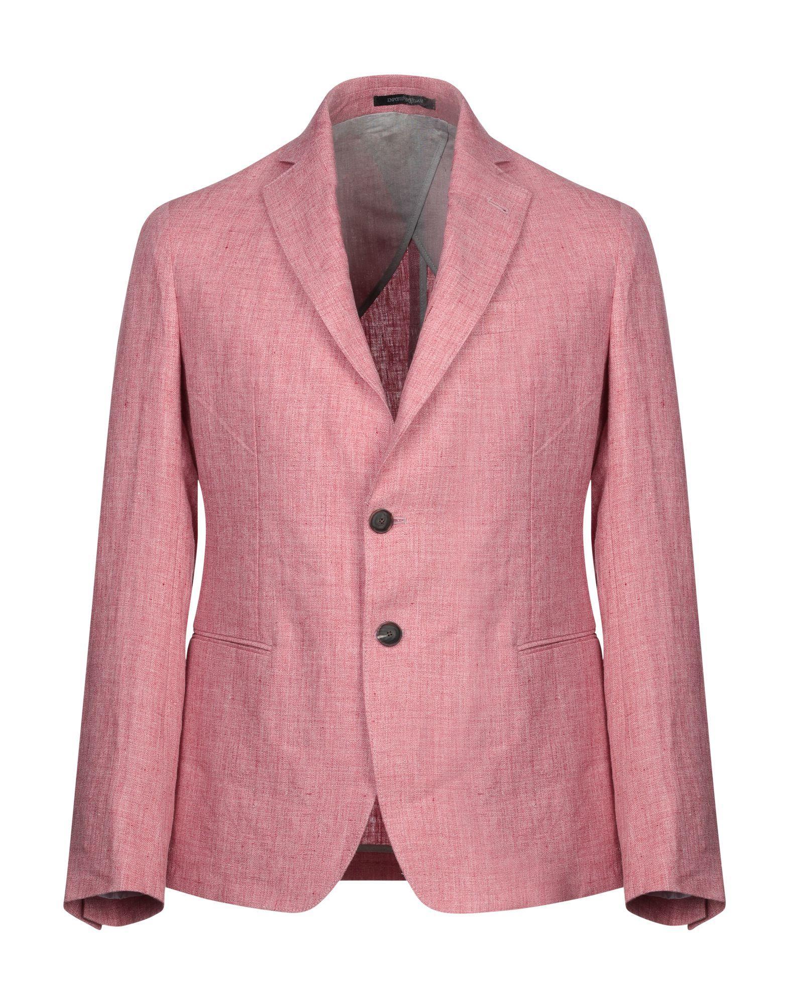 b8404001629dc Lyst - Emporio Armani Blazer in Pink for Men
