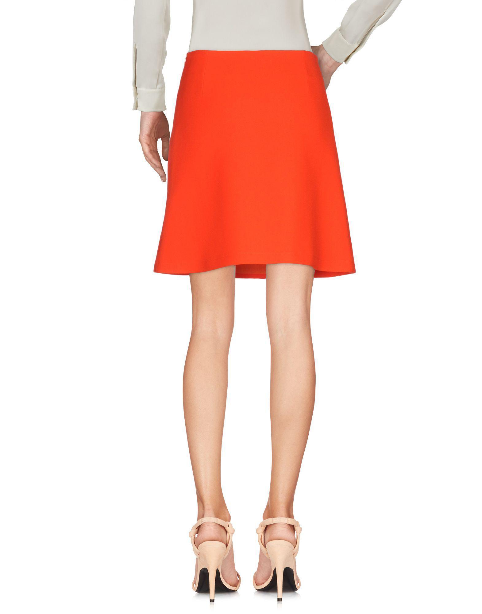 332ef74539 Vivetta Knee Length Skirt in Red - Lyst
