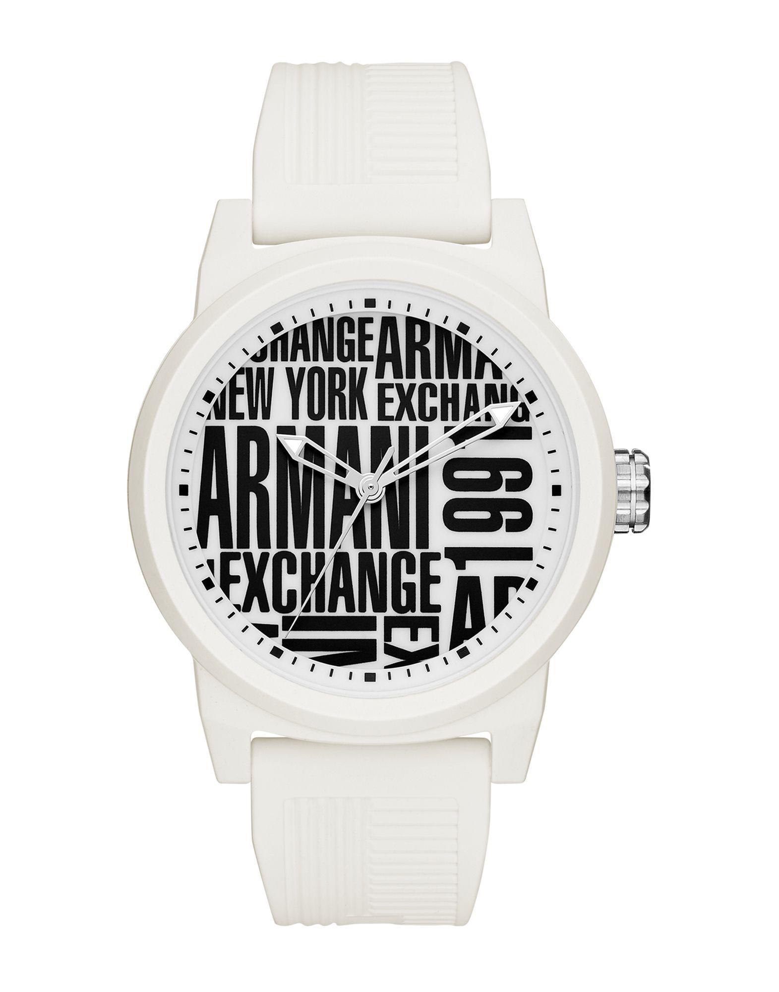 18c6ce15a679 Reloj de pulsera Armani Exchange de hombre de color Blanco - Lyst