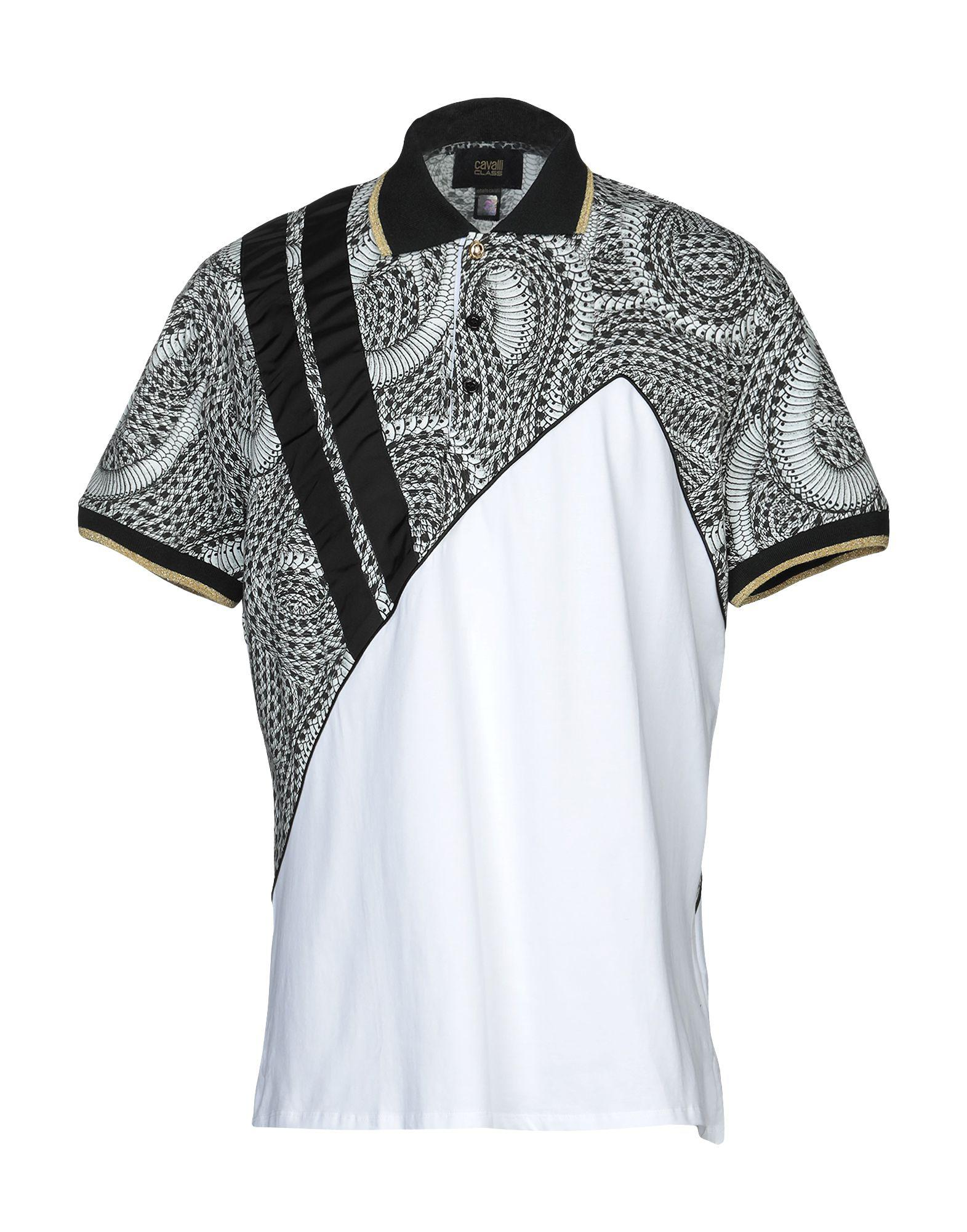 684afc69 Class Roberto Cavalli Polo Shirt in White for Men - Lyst