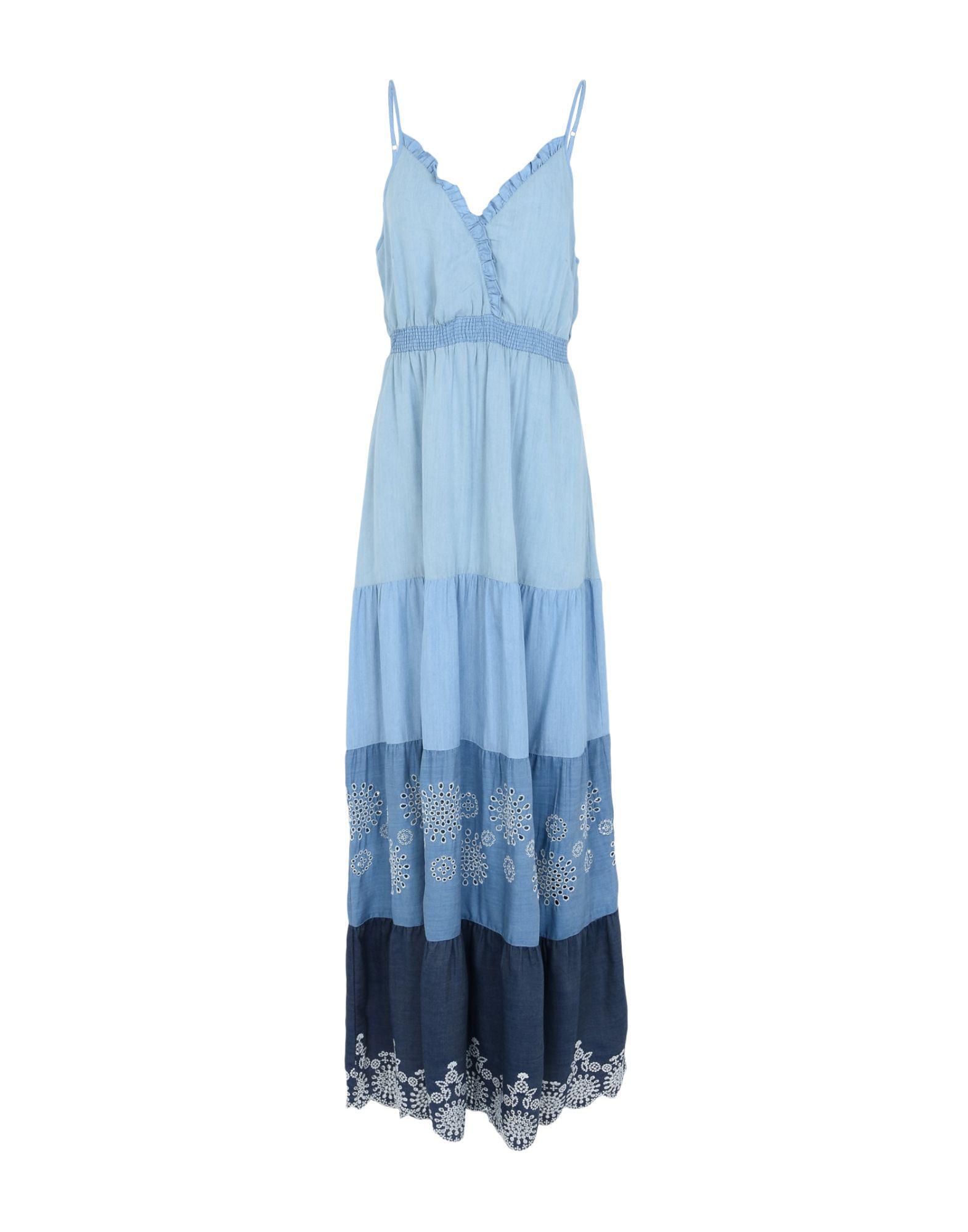 Desigual Long Dresses in Blue - Lyst