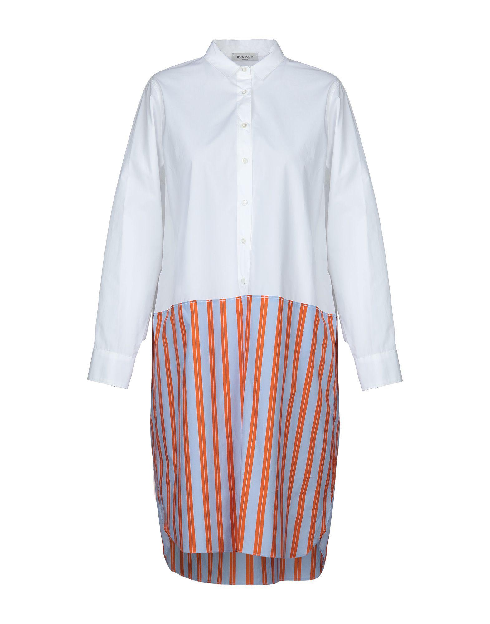Dress Knee Length White Lyst Rosso35 In iuPklOXwZT