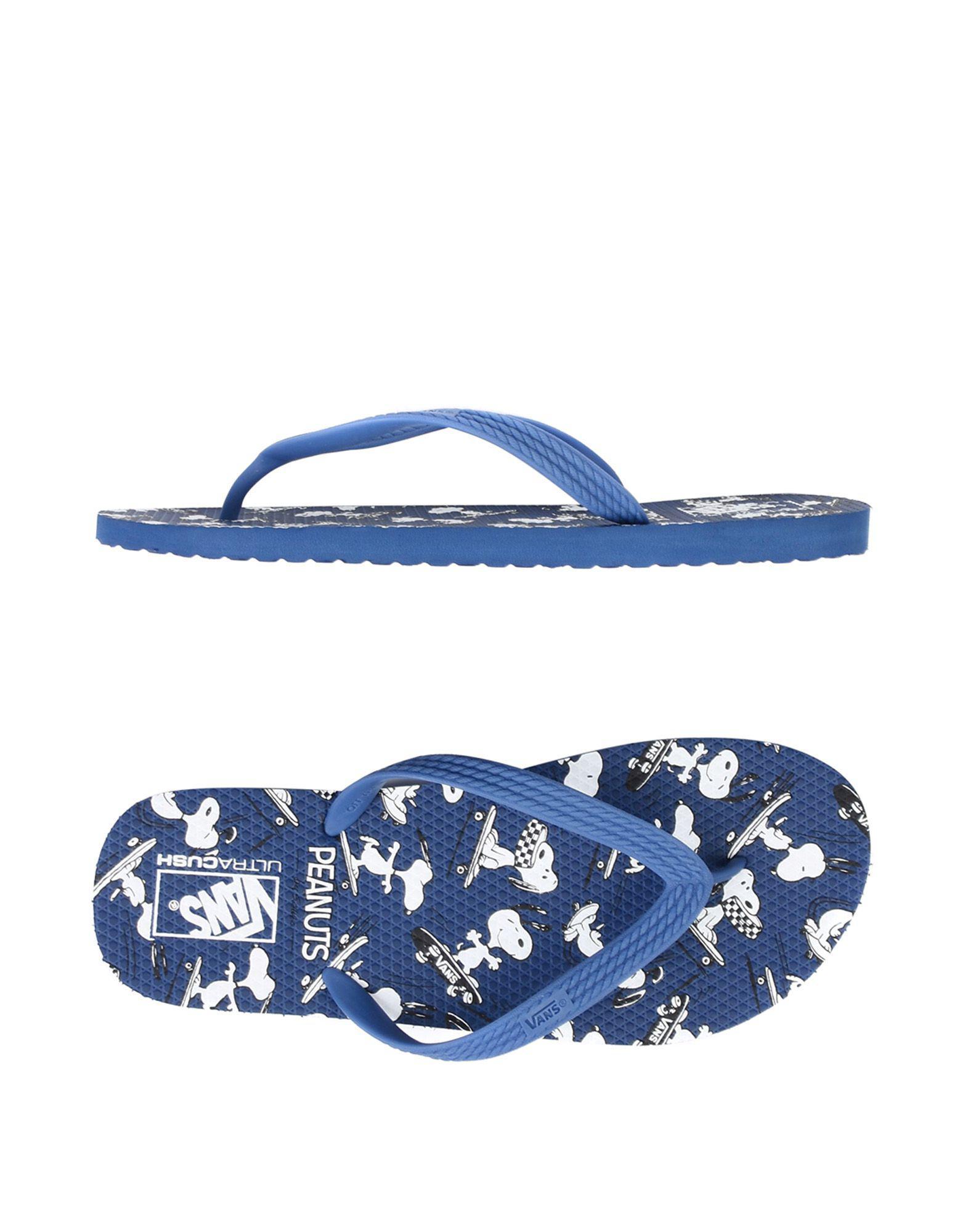 8cb33e57d720 Lyst - Vans X Peanuts Hanelei S Flip Flops in Blue for Men