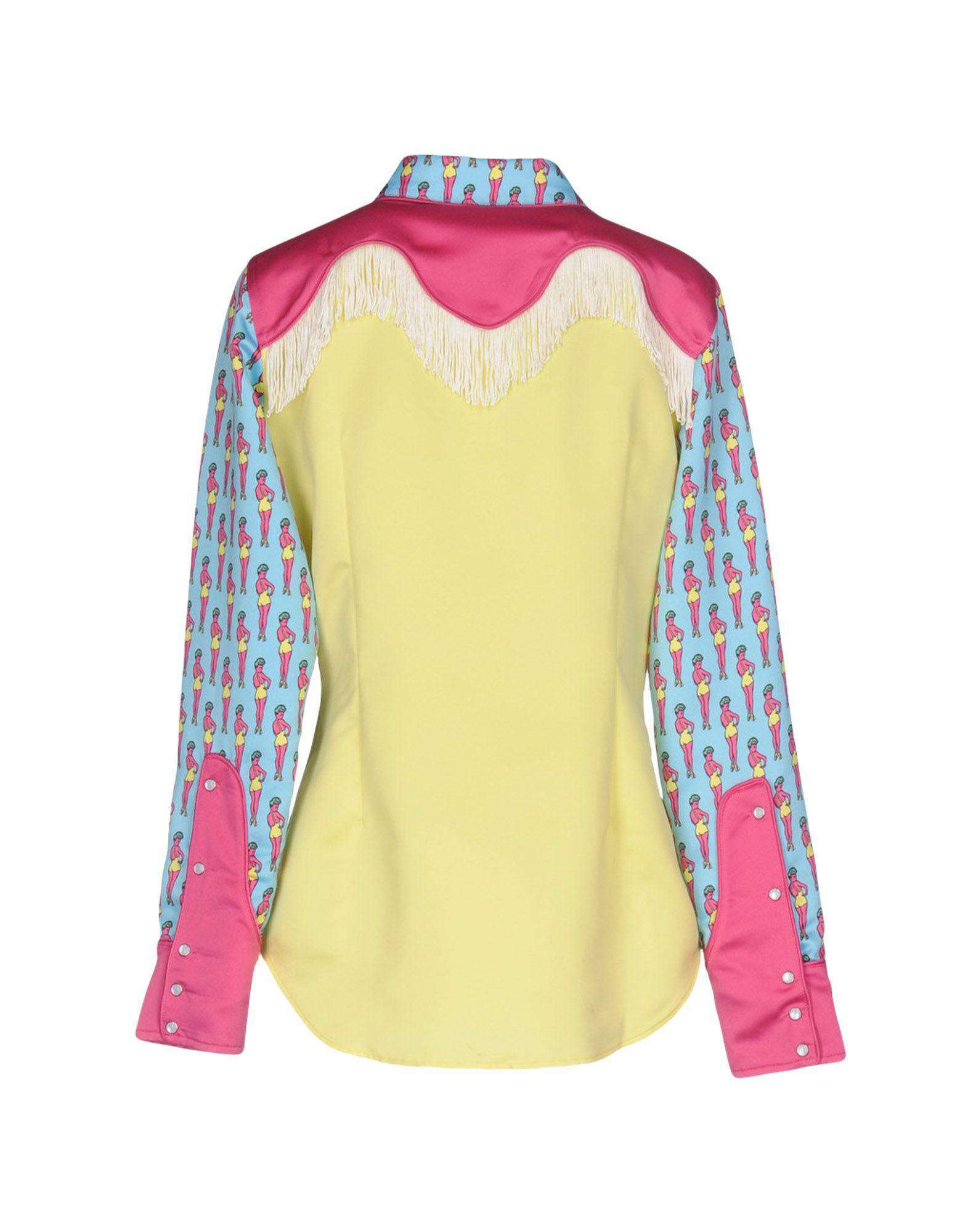 726bc77de1b1 Jeremy Scott Shirt in Yellow - Lyst