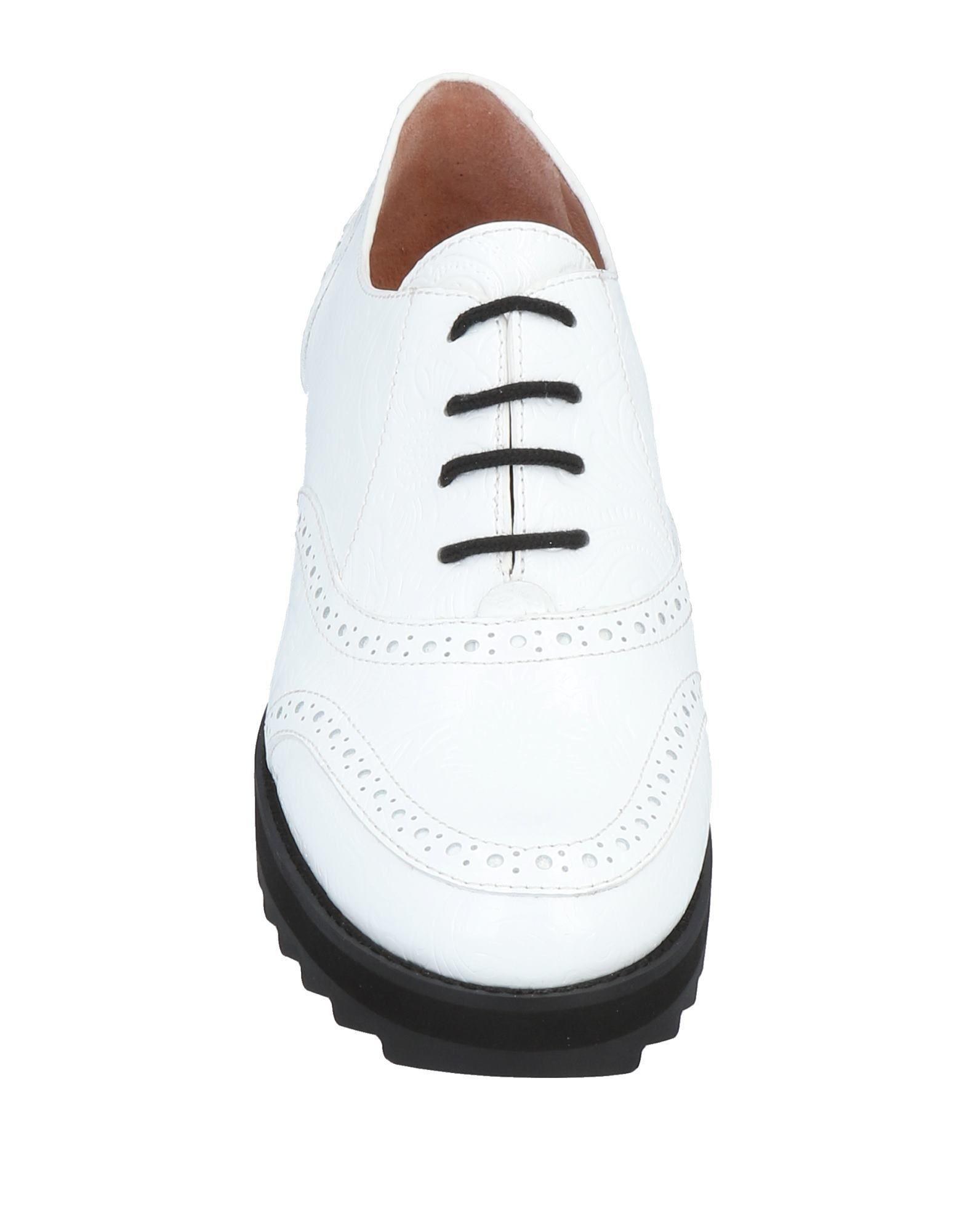 Jil Sander Navy - White Chaussures à lacets - Lyst. Afficher en plein écran 165bd44b7674