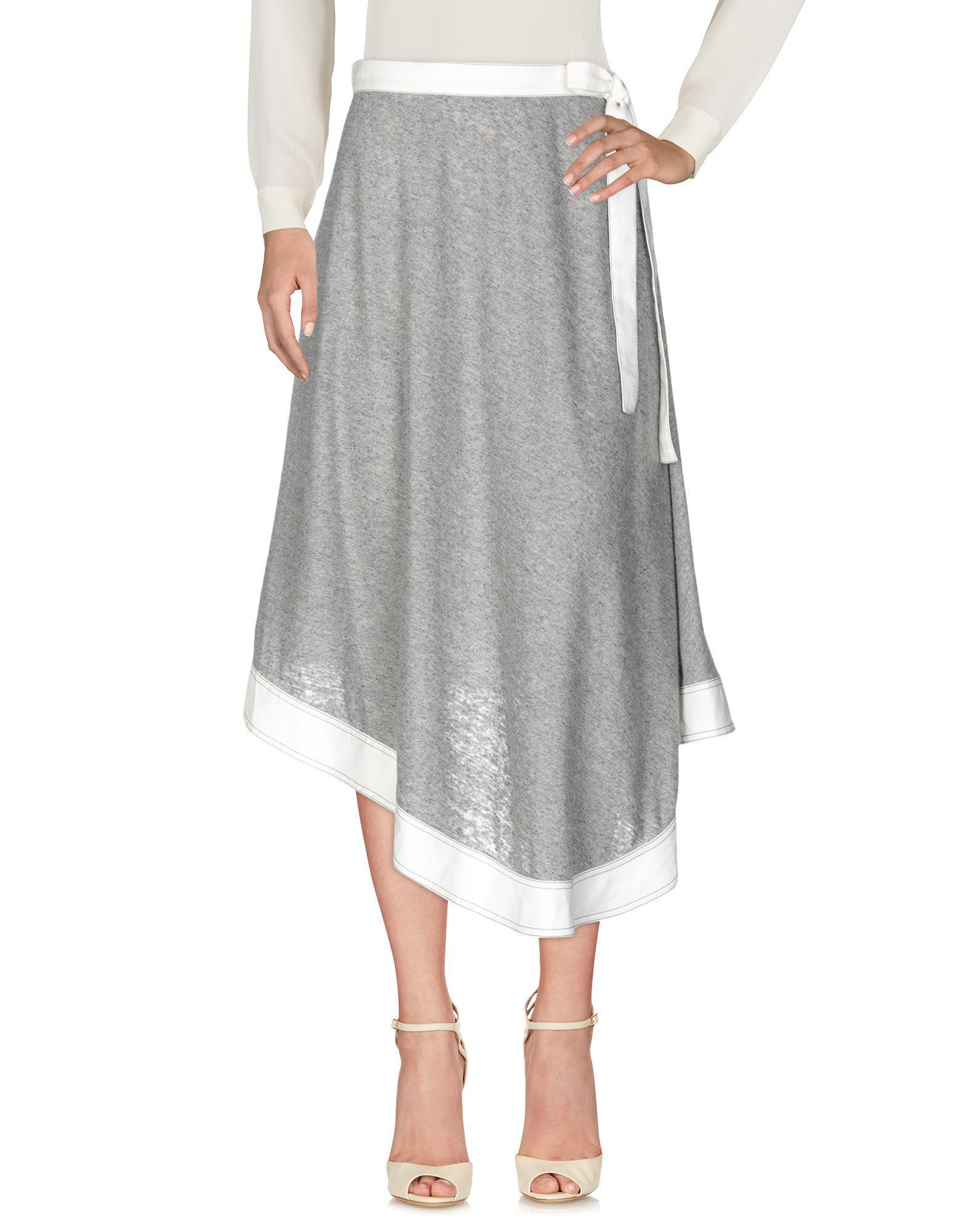 6e81819f1c55 Lyst - Loewe 3/4 Length Skirt in Gray