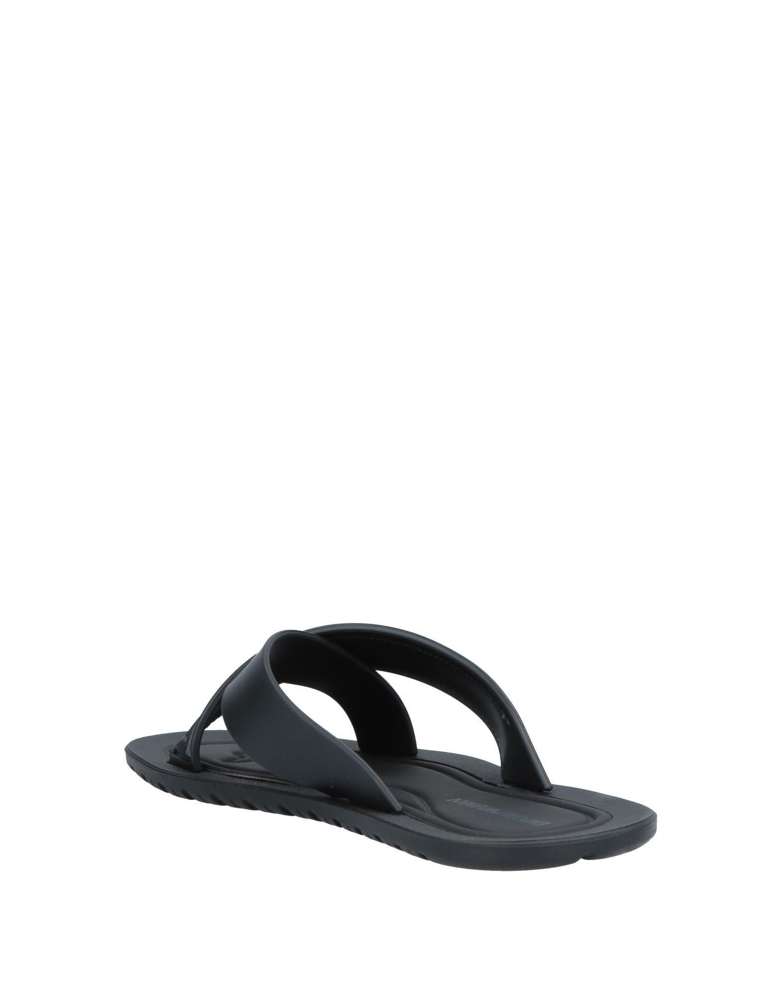 1f5d1e8812f9 Emporio Armani Sandals in Black for Men - Lyst