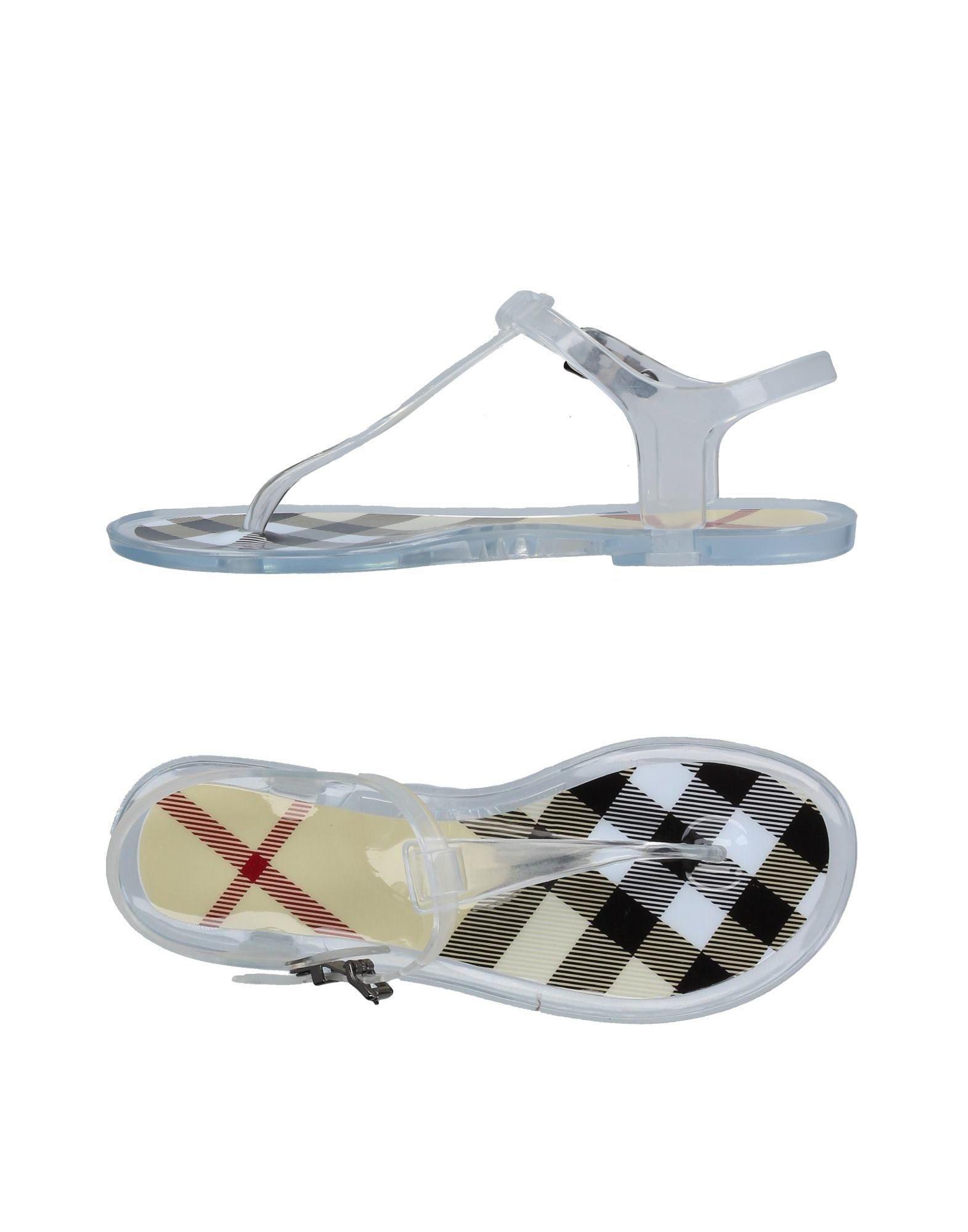 d85276ad1d09 Lyst - Burberry Toe Strap Sandal
