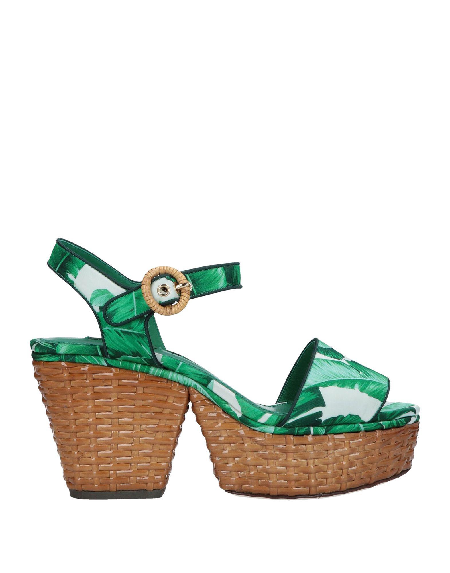 5ff5ffec3c65 Lyst - Dolce   Gabbana Sandals in Green