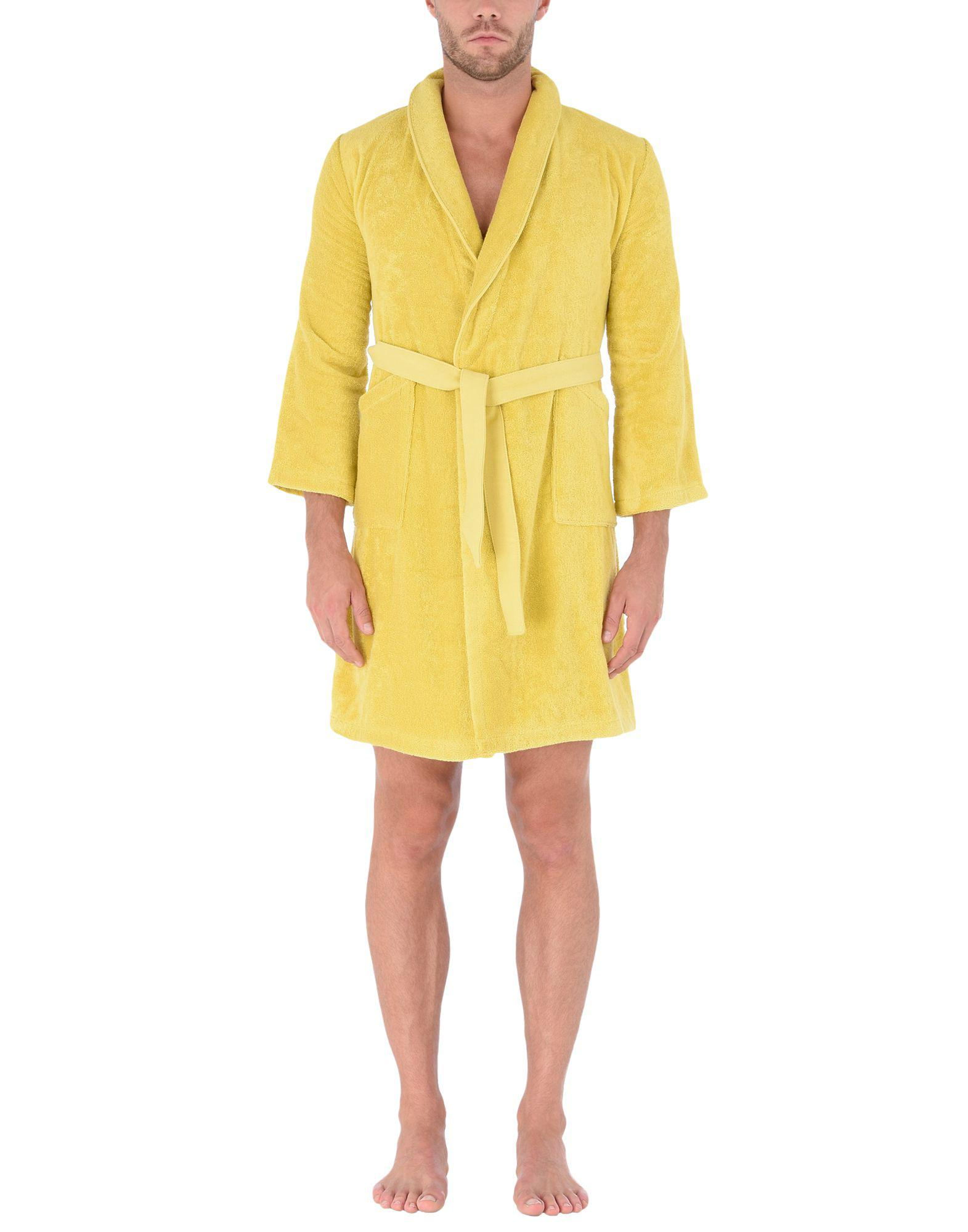 879e3a877a KENZO Towelling Dressing Gown in Yellow for Men - Lyst