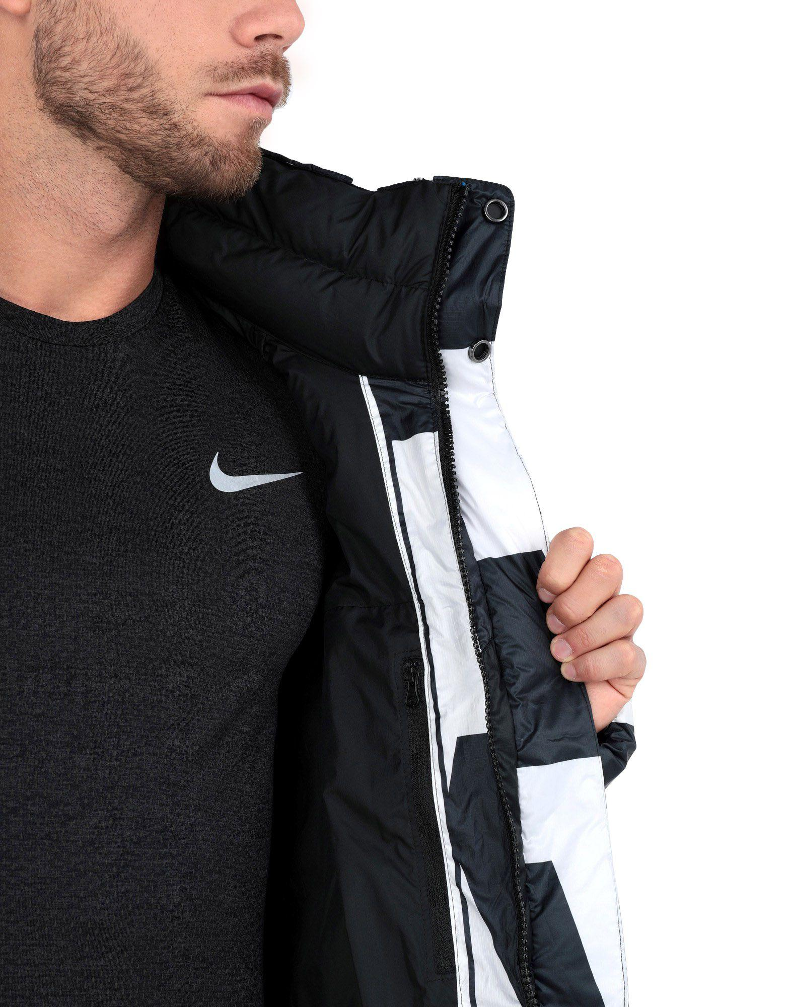 215d01b7225 Nike Sportswear Quilted Printed Shell Down Jacket in Black for Men - Save  62% - Lyst