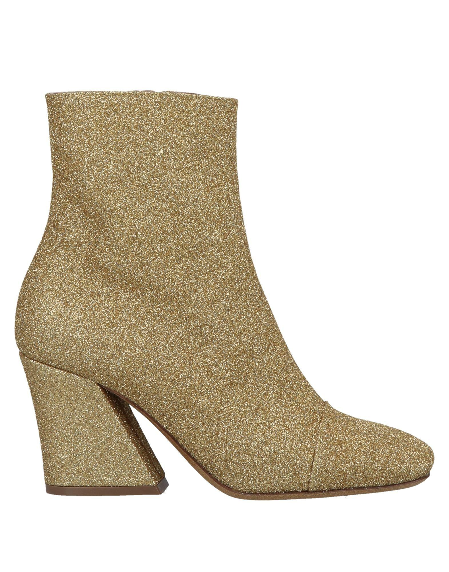 d51200abce Lyst - Dries Van Noten Ankle Boots in Metallic