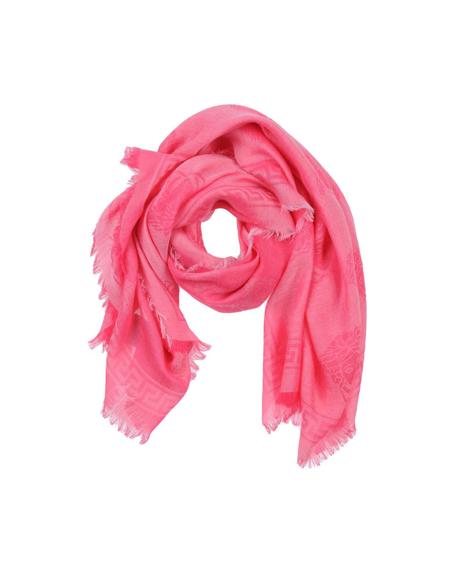 228c23dba86 Lyst - Foulard Versace en coloris Rose