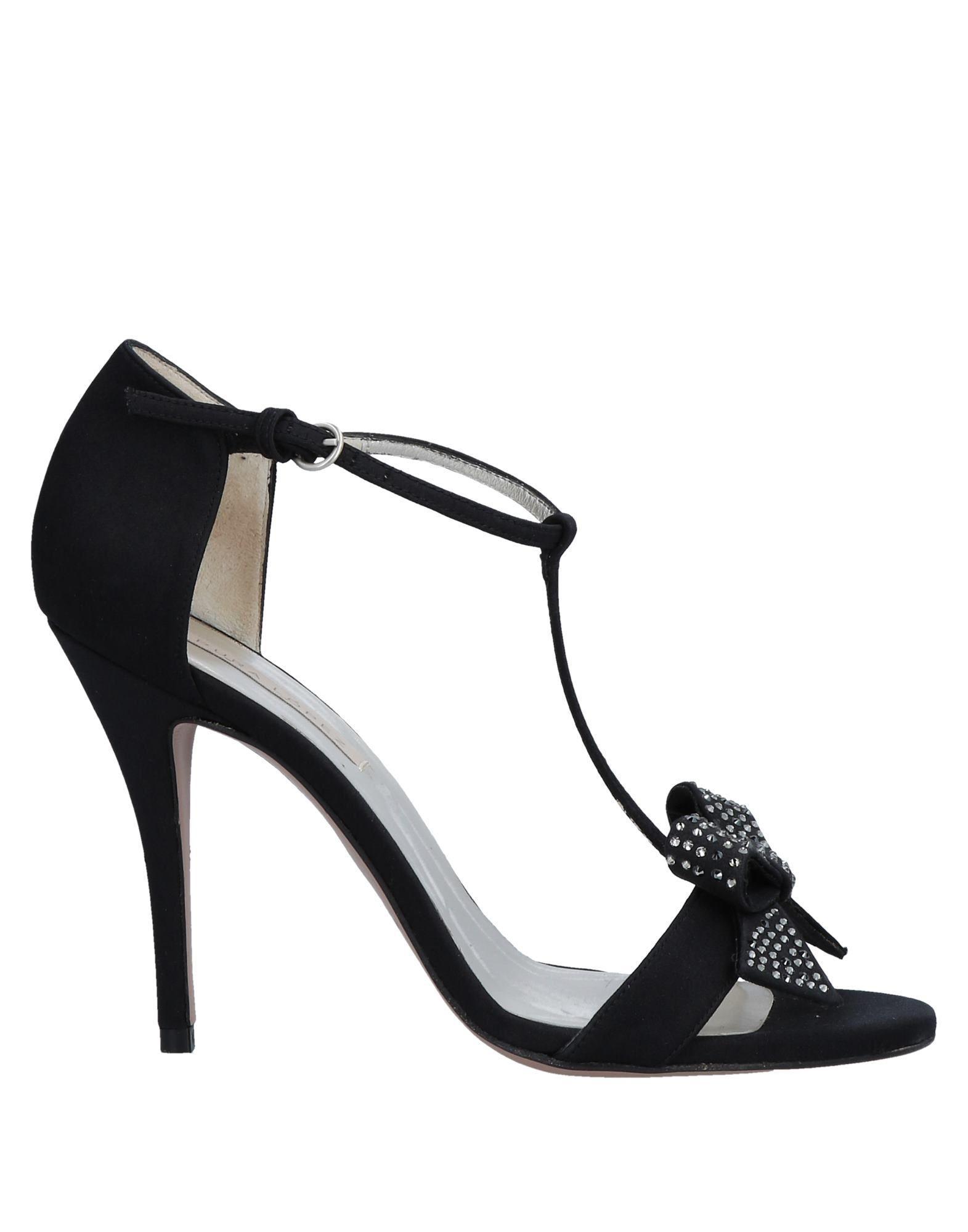 183afa82a19 Pura Lopez Sandals in Black - Lyst