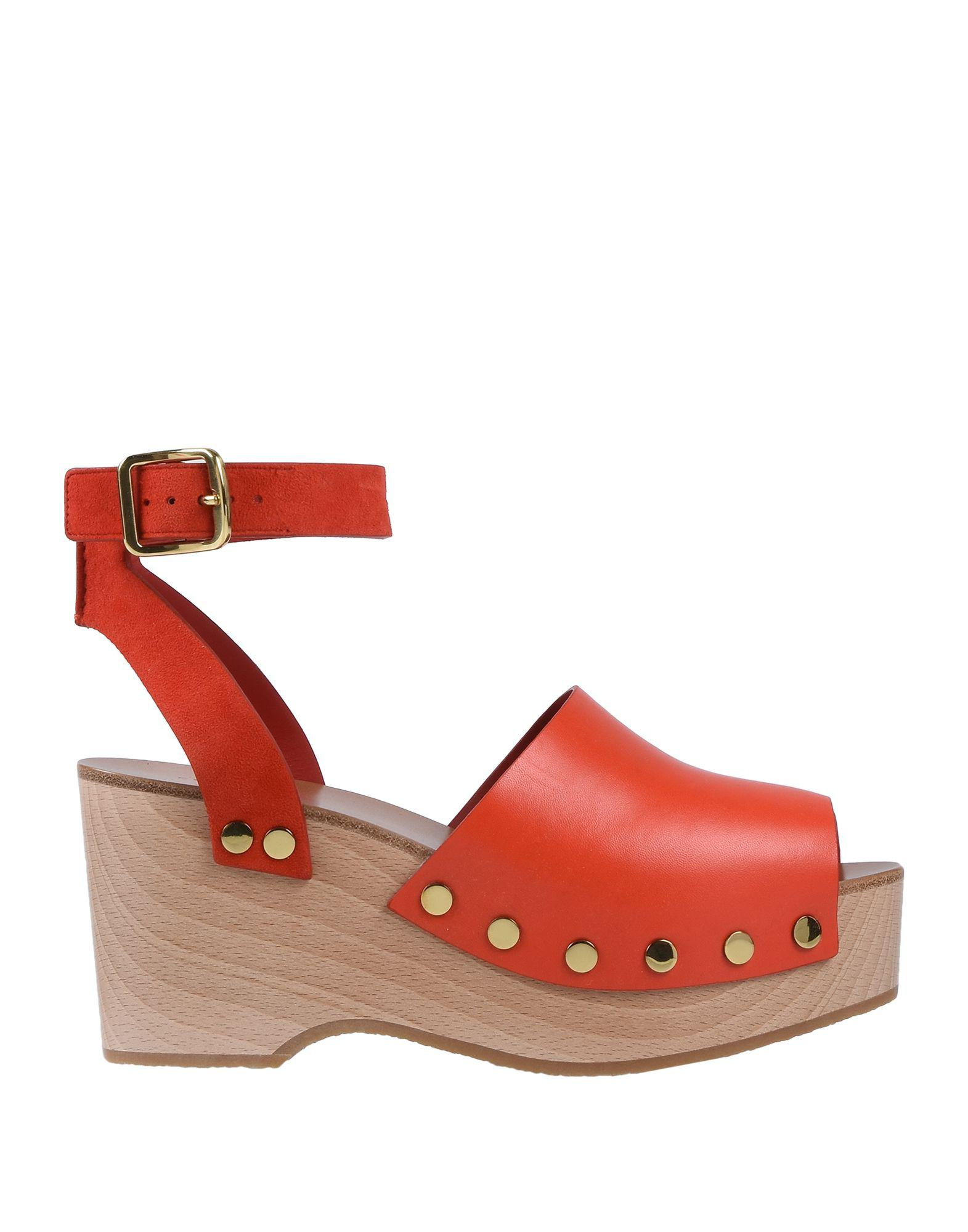 ee338c251a1 Lyst - Céline Sandals in Red