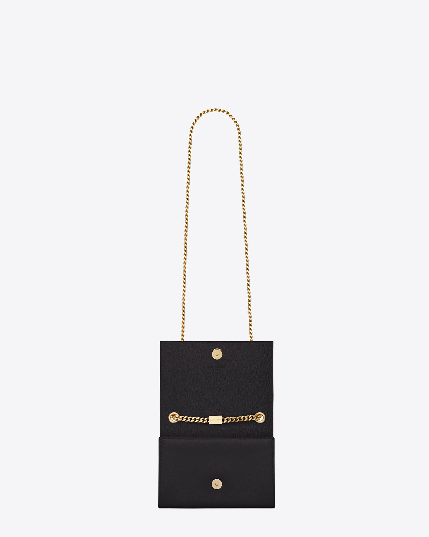 Saint Laurent. Women s Black Classic Small Monogram Leather Shoulder Bag d9d05dbdf5dec