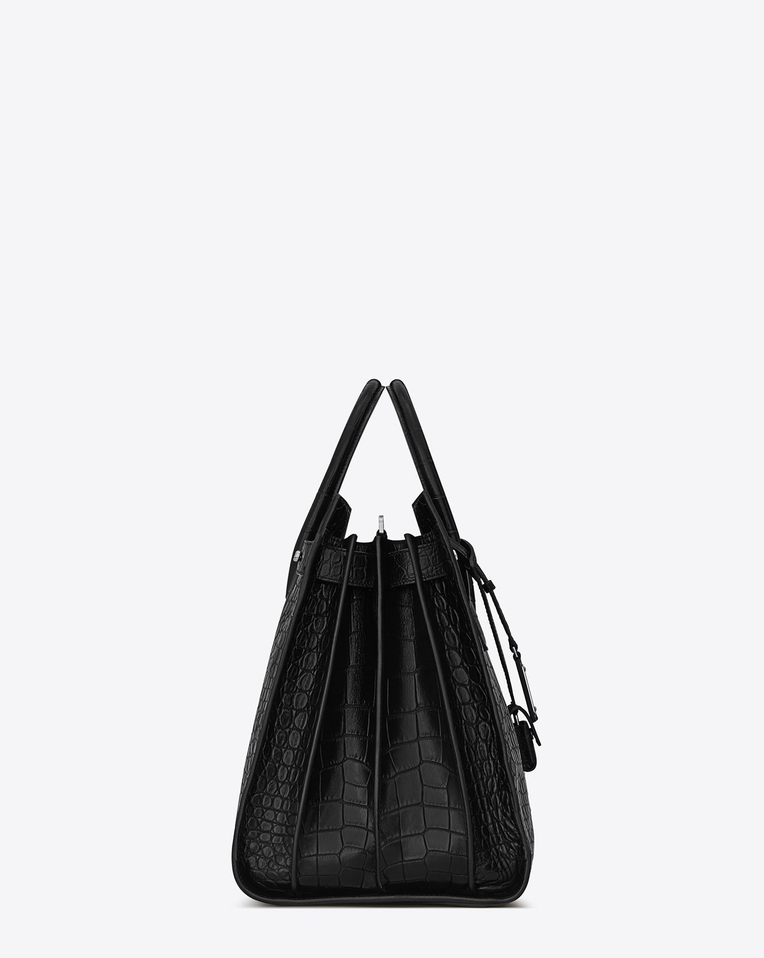 83f6853ed572 Lyst - Saint Laurent Sac De Jour Large In Crocodile Embossed Leather in  Black for Men