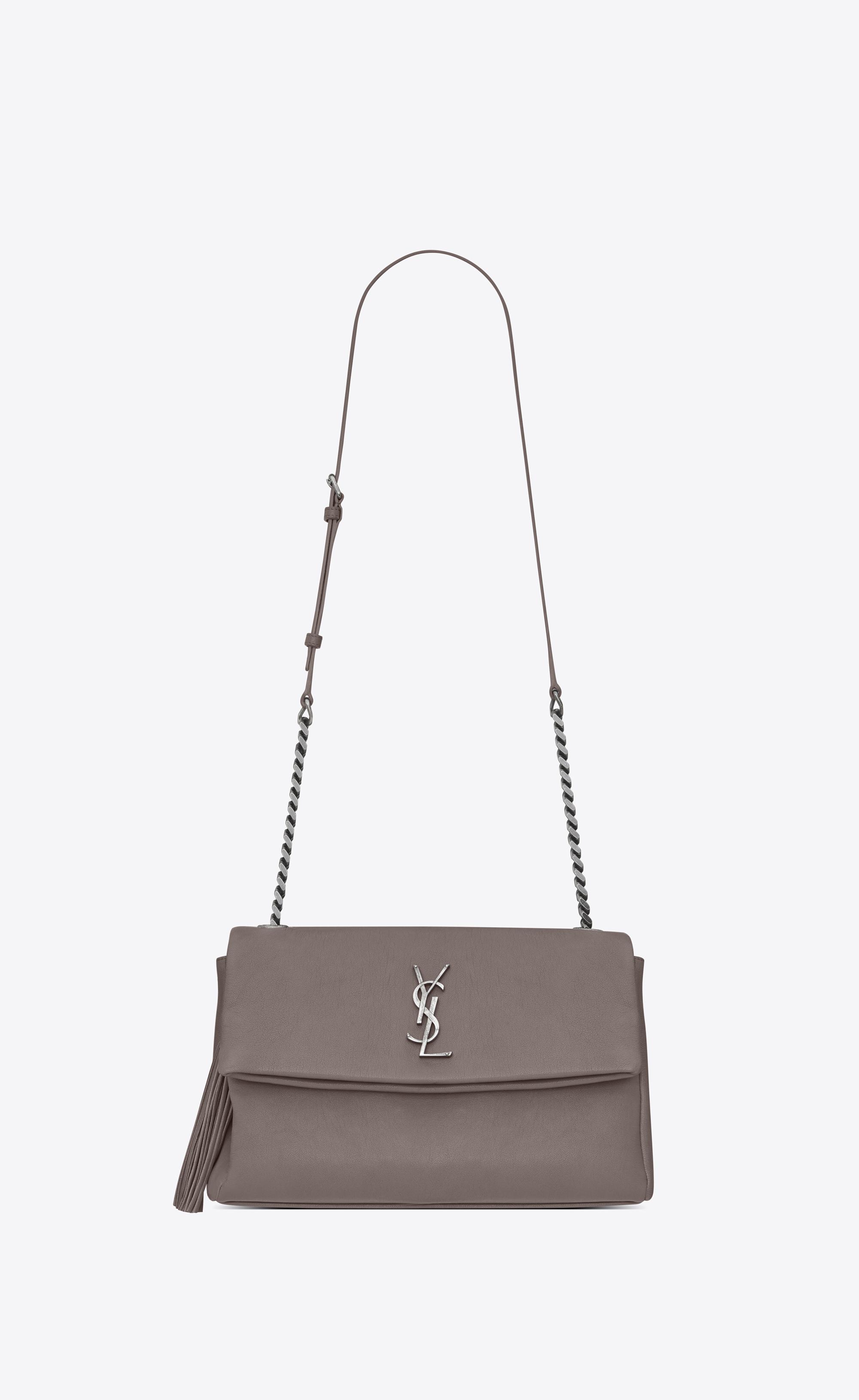 484d2a2c86d Saint Laurent Monogram West Hollywood Tassel Bag In Fog - Lyst
