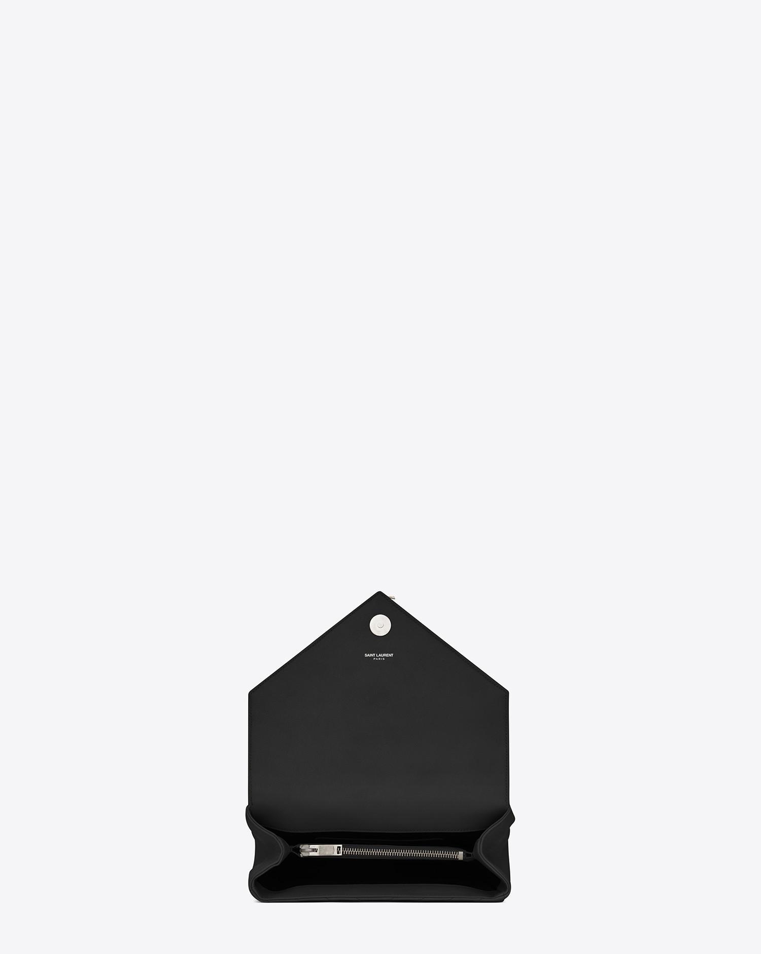 a7162828bd43 Lyst - Saint Laurent Monogram College Medium Quilted Leather Shoulder Bag  in Black