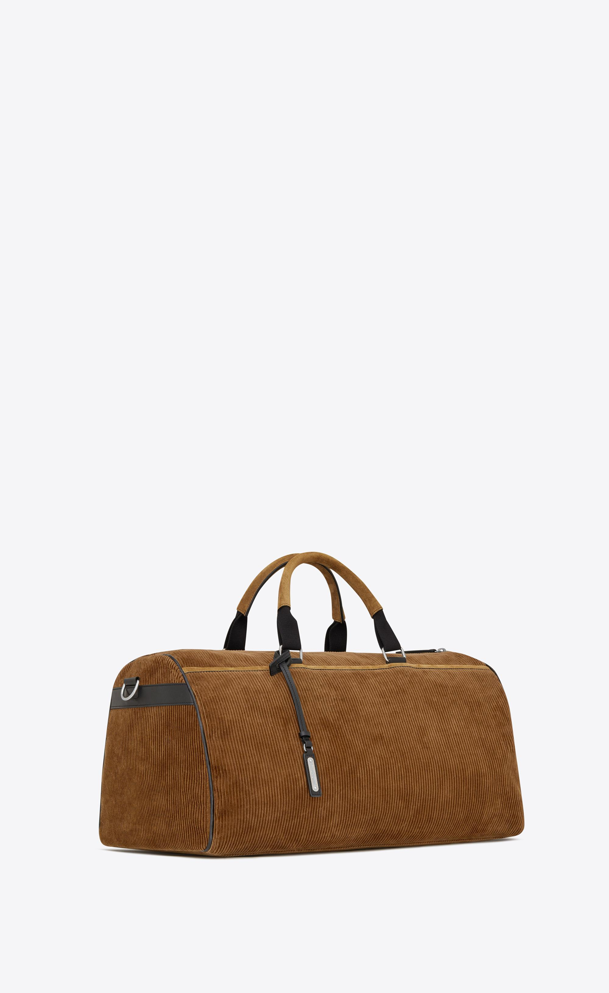 0a801234bb Lyst - Saint Laurent Andy Duffle Bag In Corduroy in Brown for Men