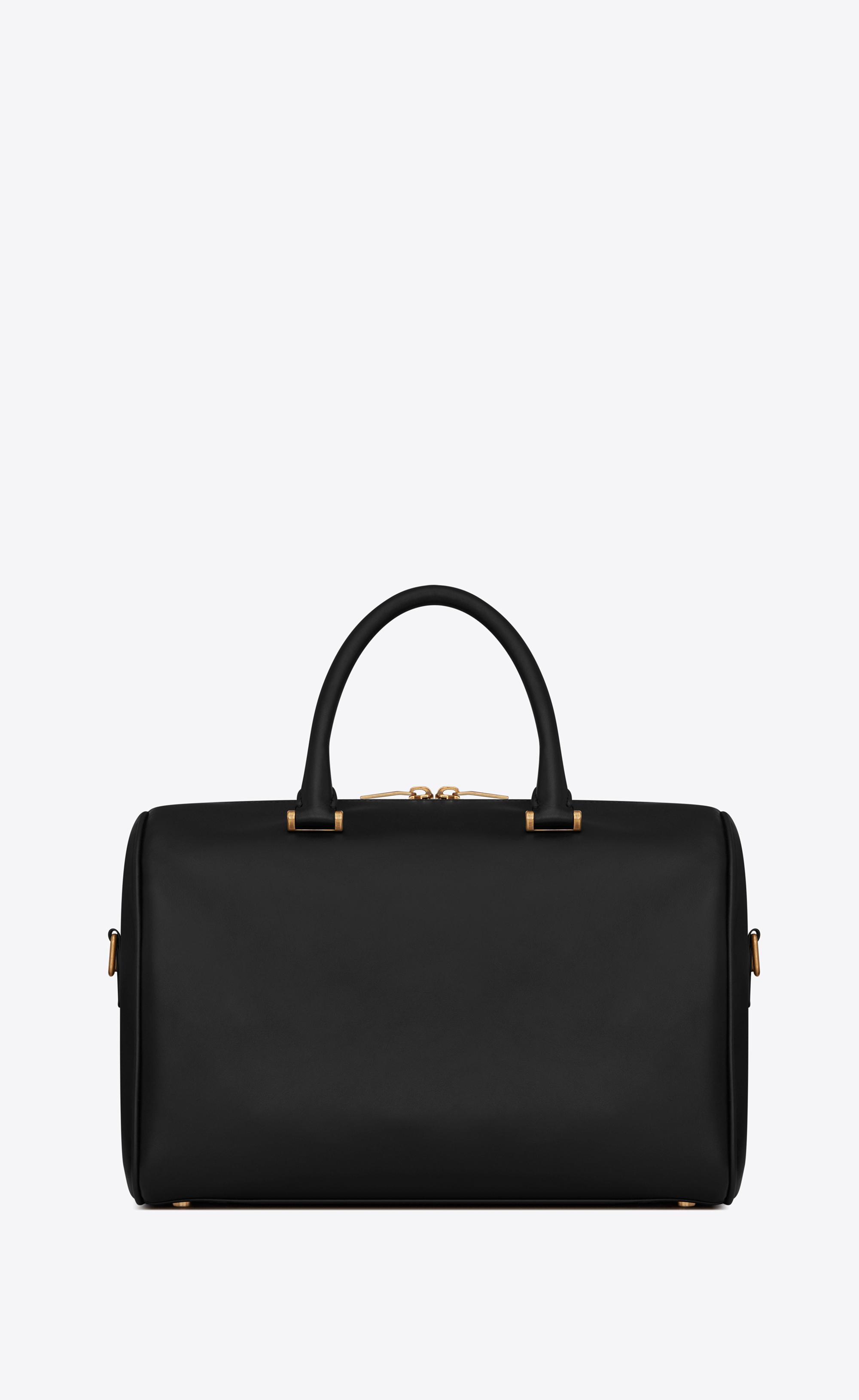 bbfec114e4dc Saint Laurent - Black Duffle 6 In Smooth Leather - Lyst. View fullscreen