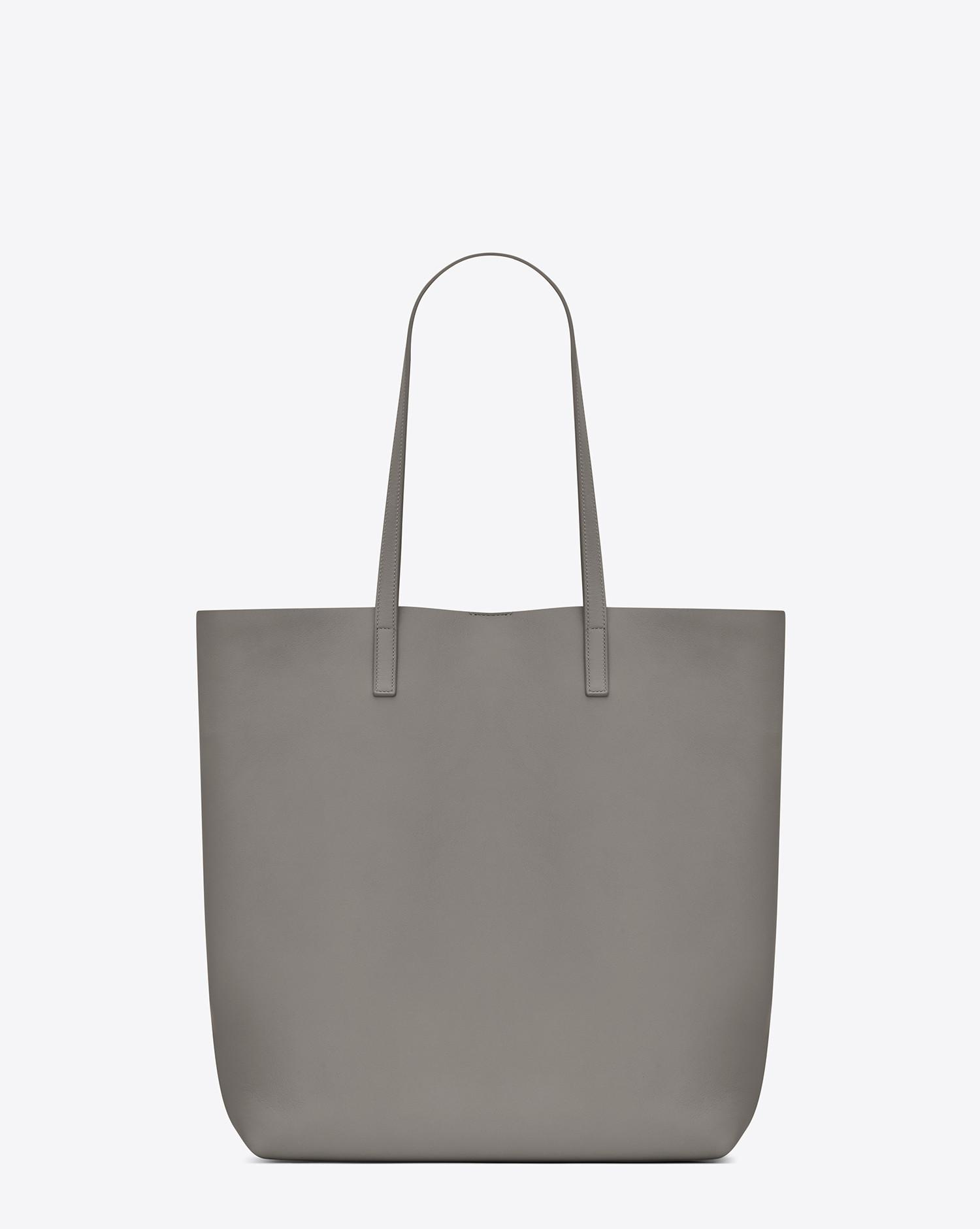 99f885b5335f Saint Laurent Medium Shopping Tote Bag In Pearl Grey Leather in Gray - Lyst