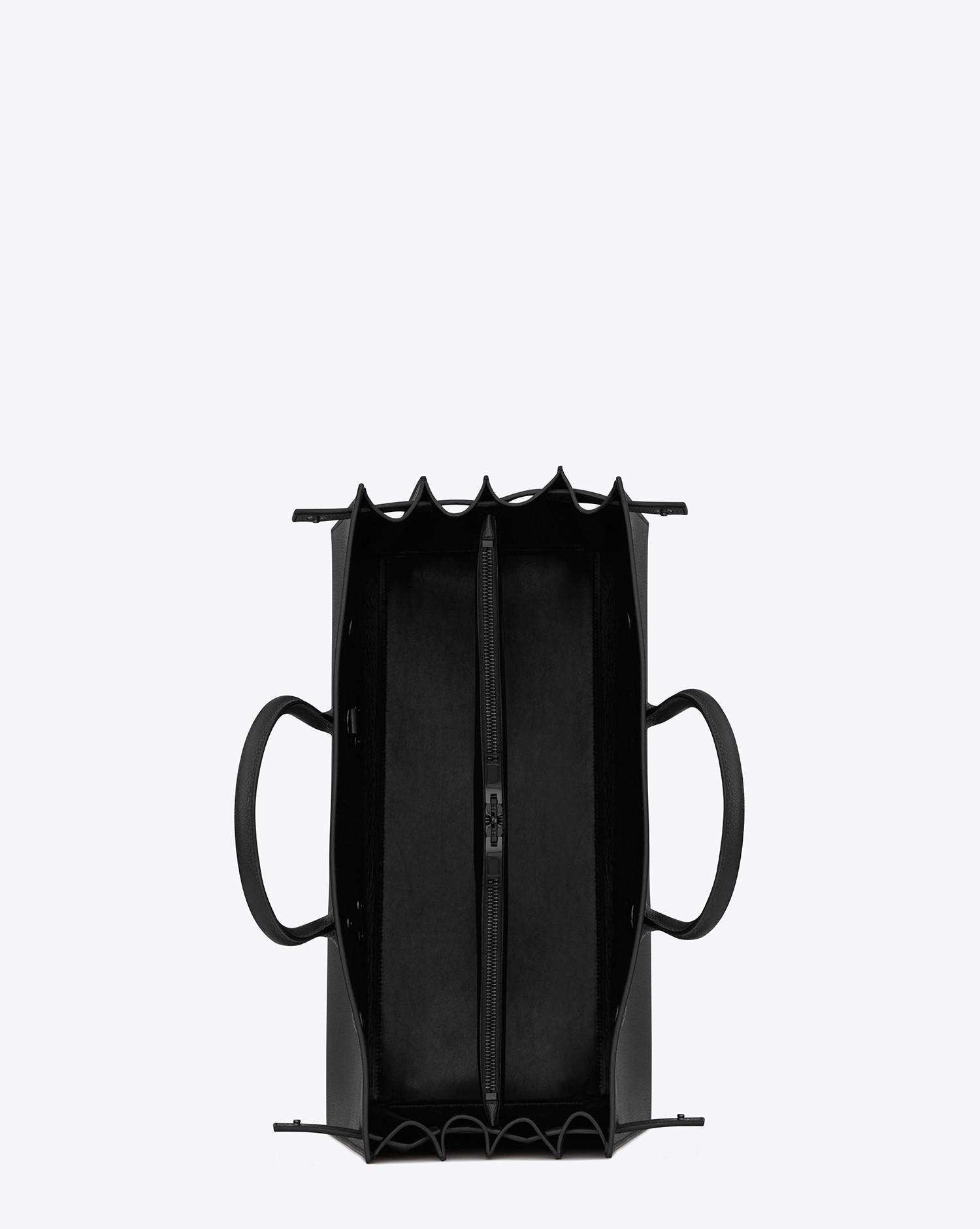 Lyst - Grand sac de jour carry all en cuir grainé Saint Laurent pour homme  en coloris Noir bef8e807b3d
