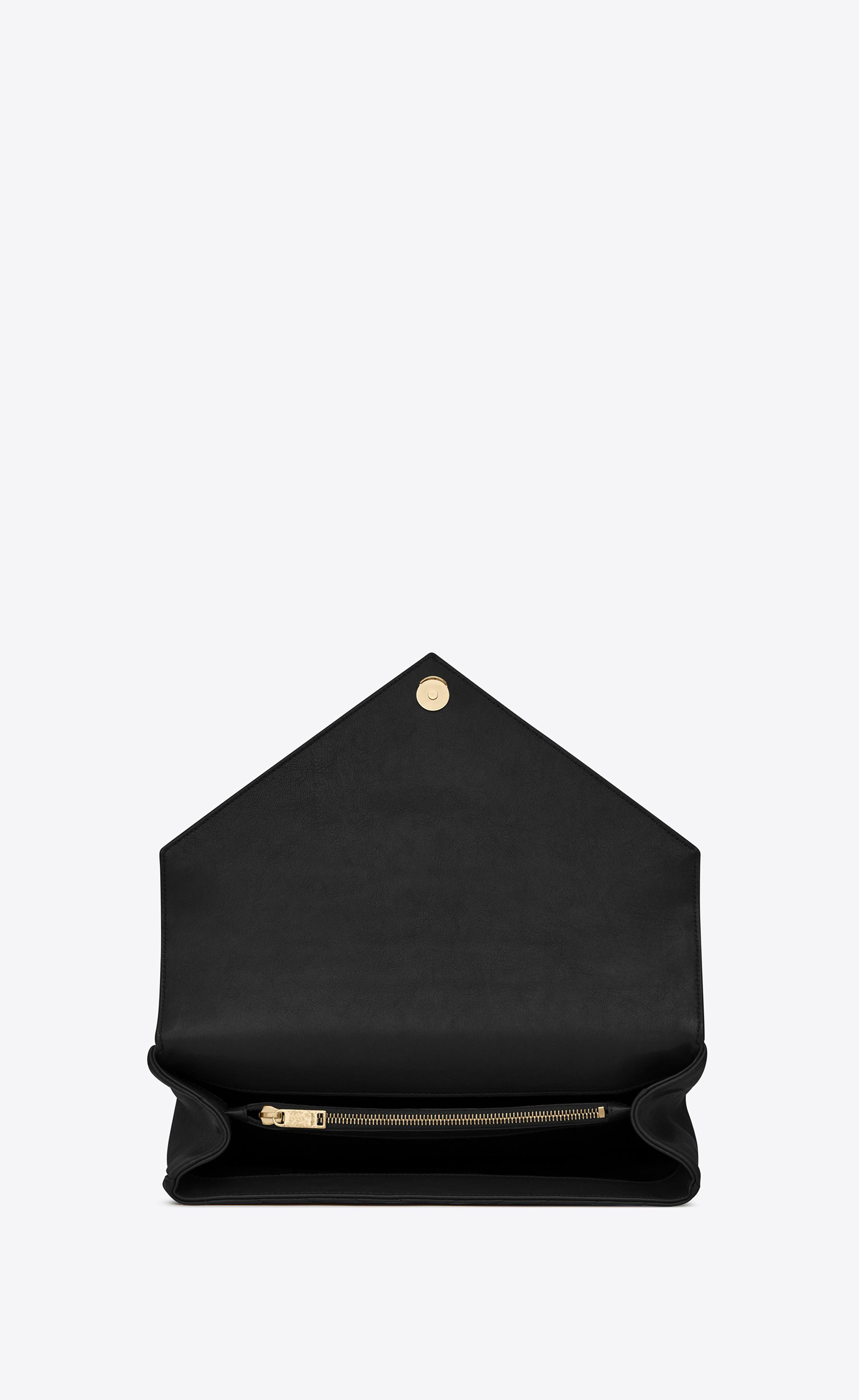 Lyst - Saint Laurent Large Collège Bag In Black Matelassé Leather ... 2a9ec7d6de10a